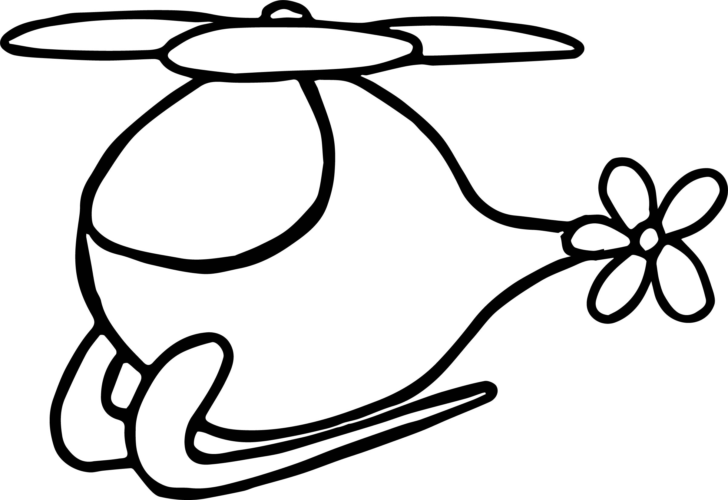 Helicopter Coloring Page 03
