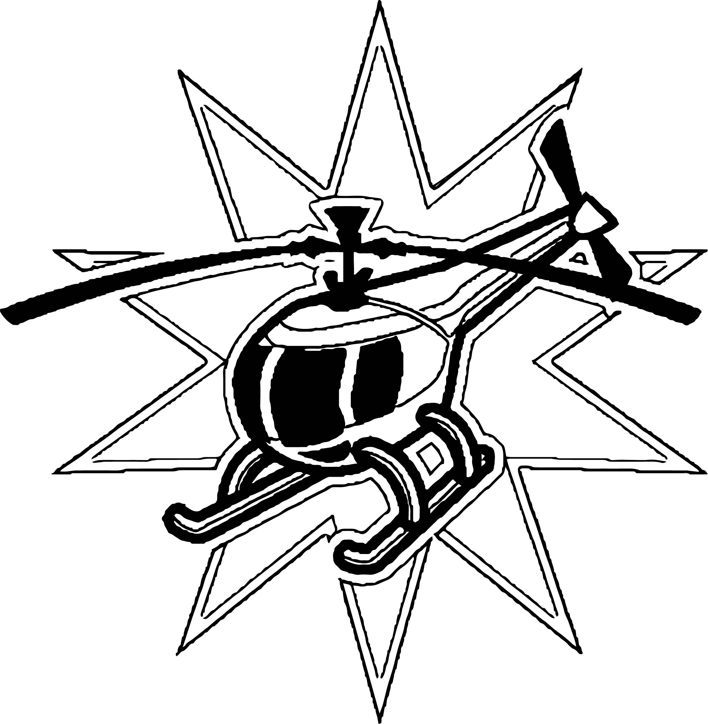 Helicopter Coloring Page 14
