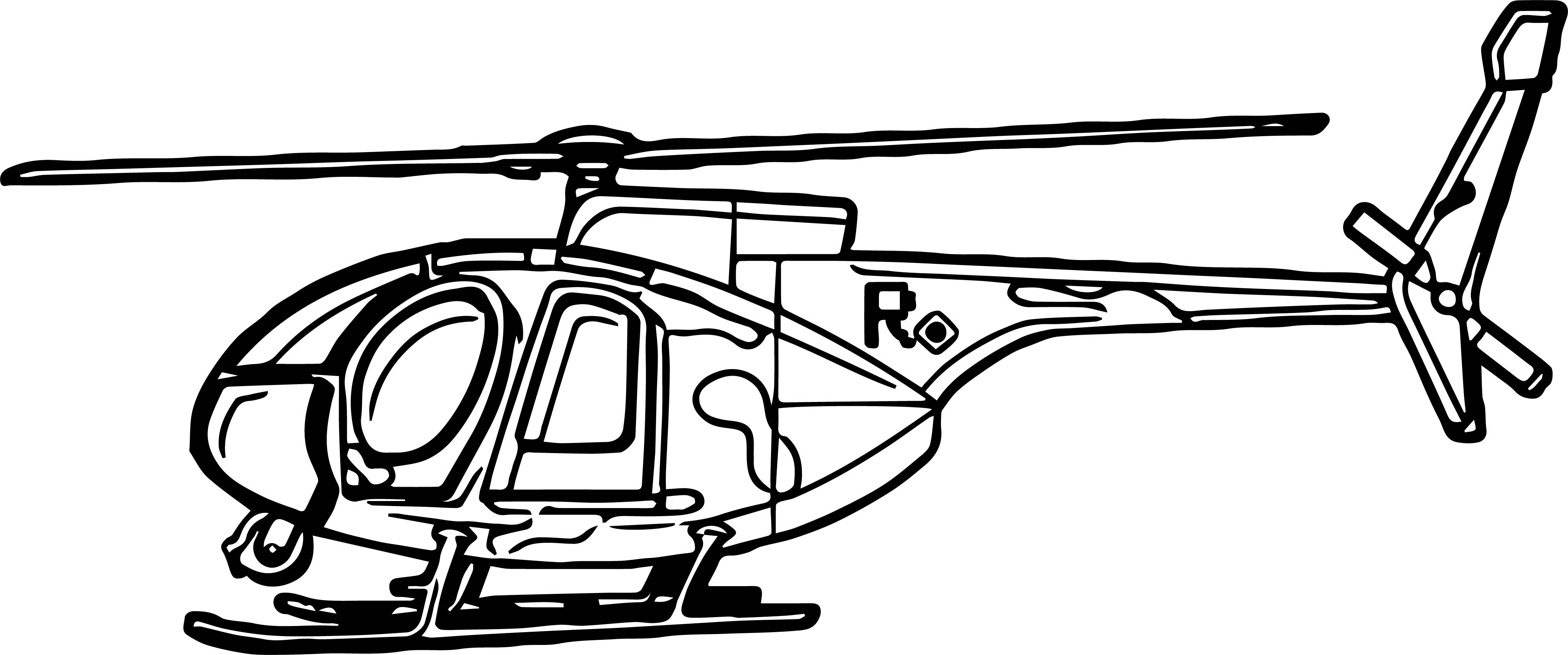 Helicopter Coloring Page 29