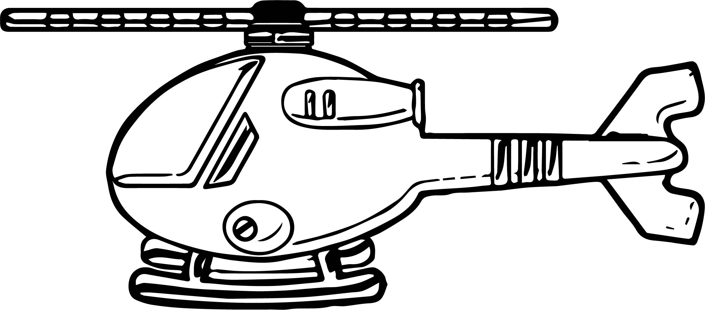 Helicopter Coloring Page 34