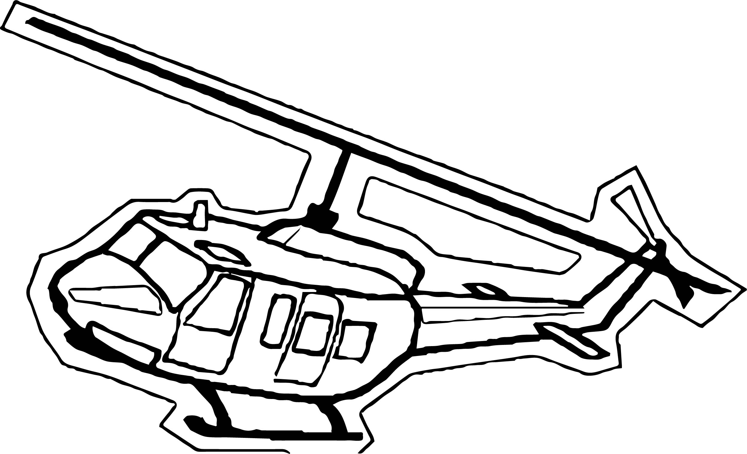 Helicopter Coloring Page 38