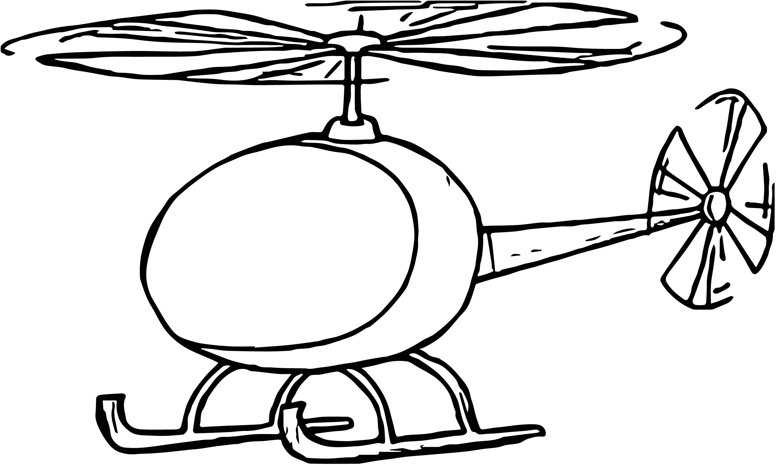 Helicopter Coloring Page 60