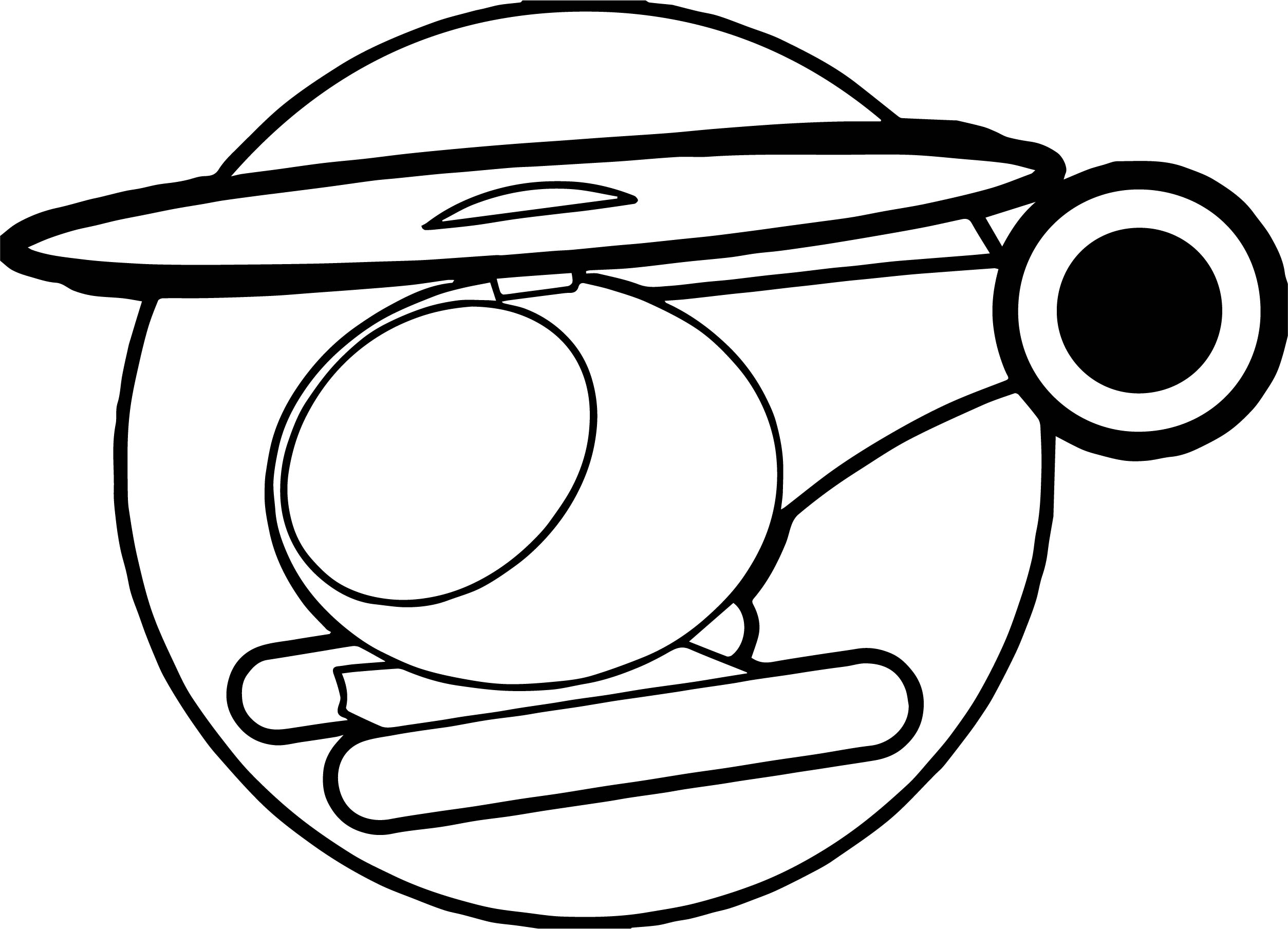 Helicopter Icon Coloring Page