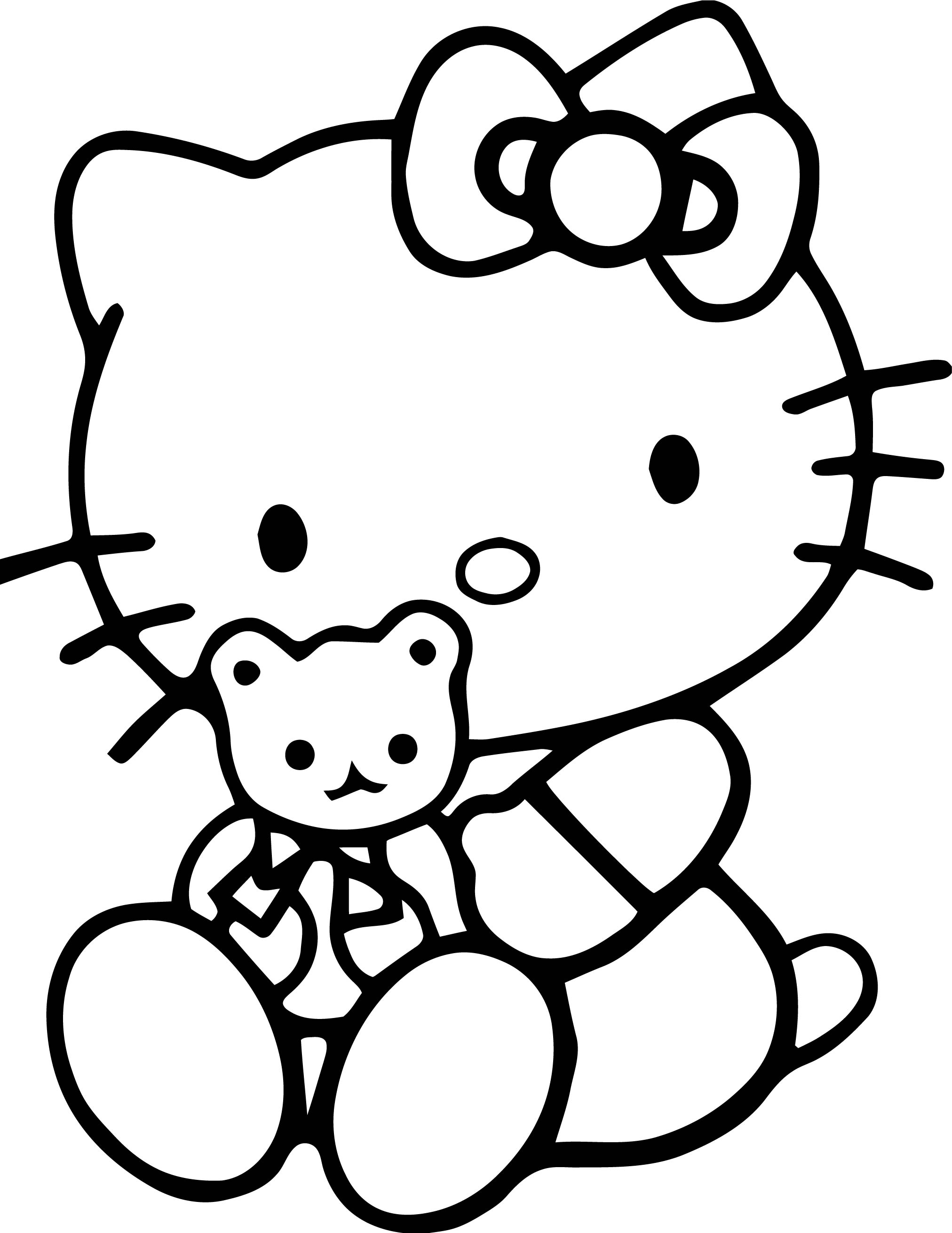 Hello Kitty Toy Cat Coloring Page