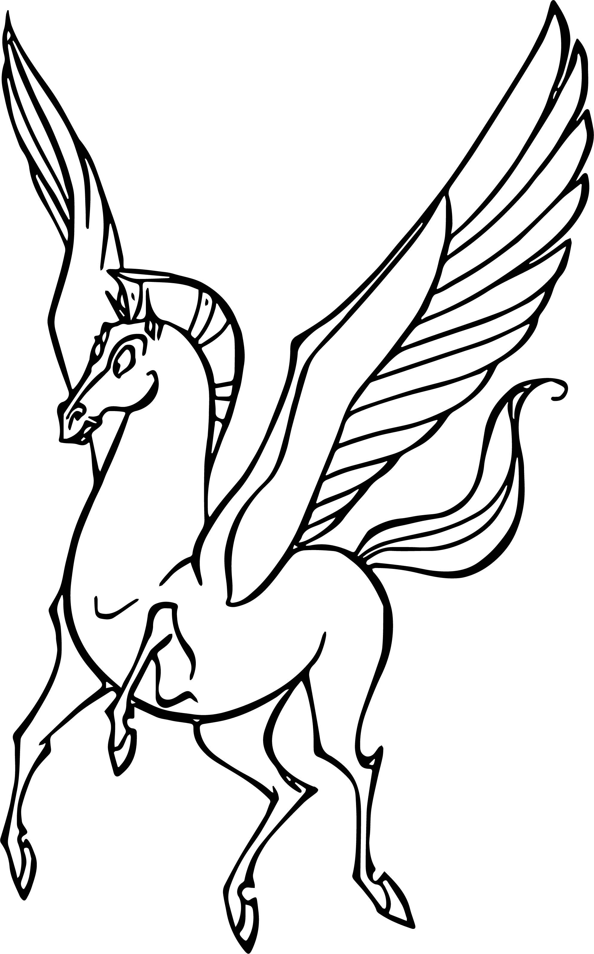 Hercules And Pegasus Coloring Pages 06