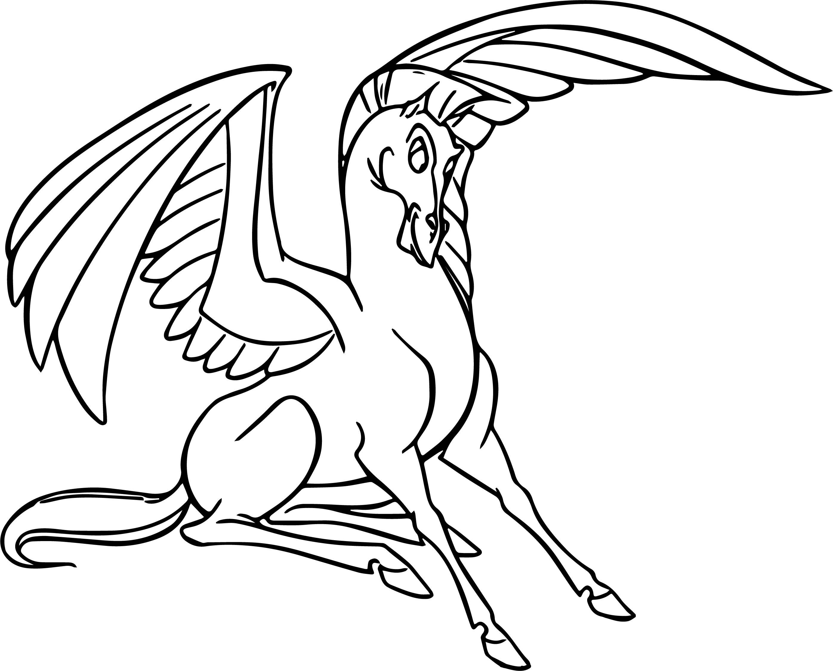 Hercules And Pegasus Coloring Pages 07