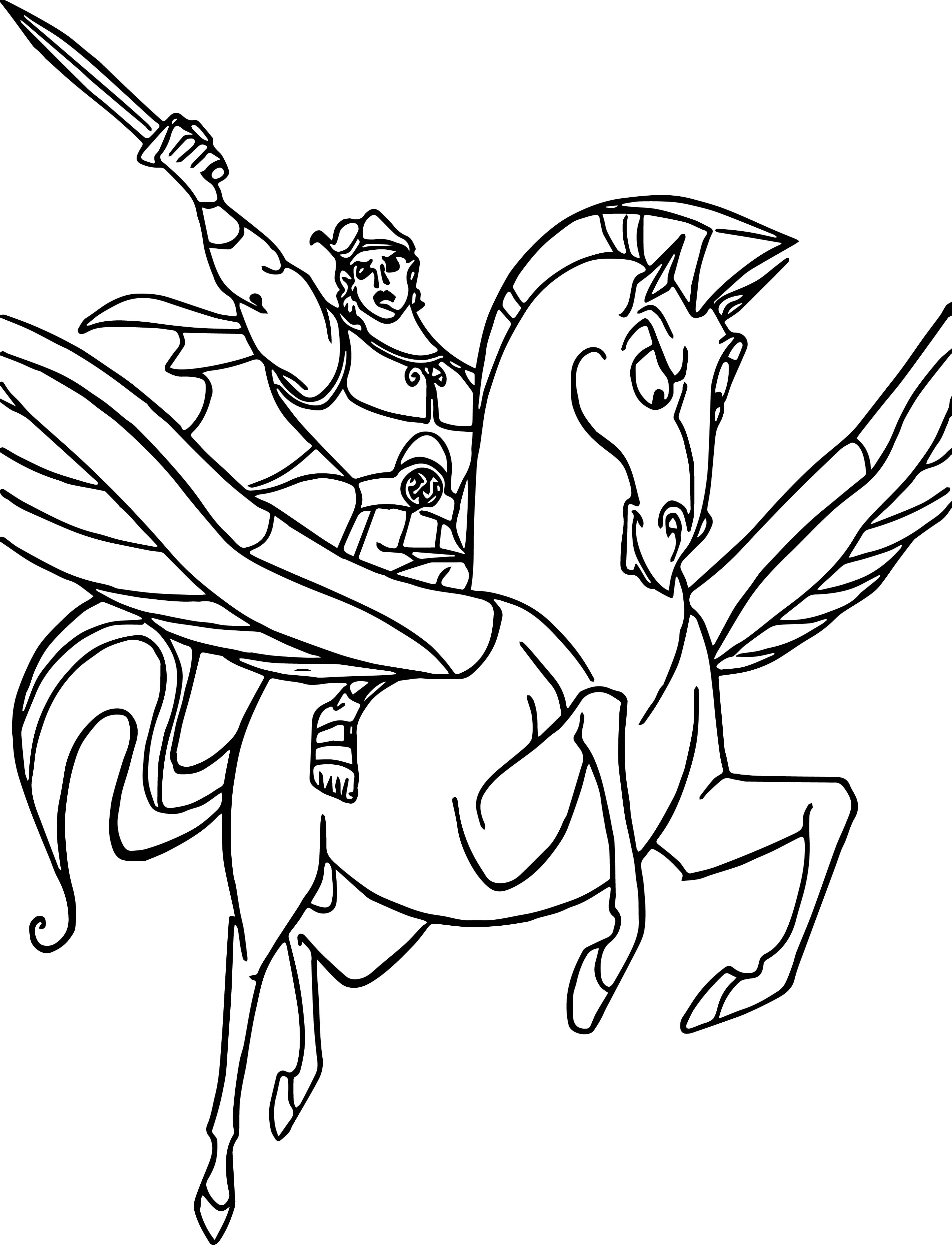 Hercules And Pegasus Coloring Pages 09