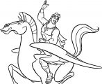 Hercules And Pegasus Coloring Pages 12