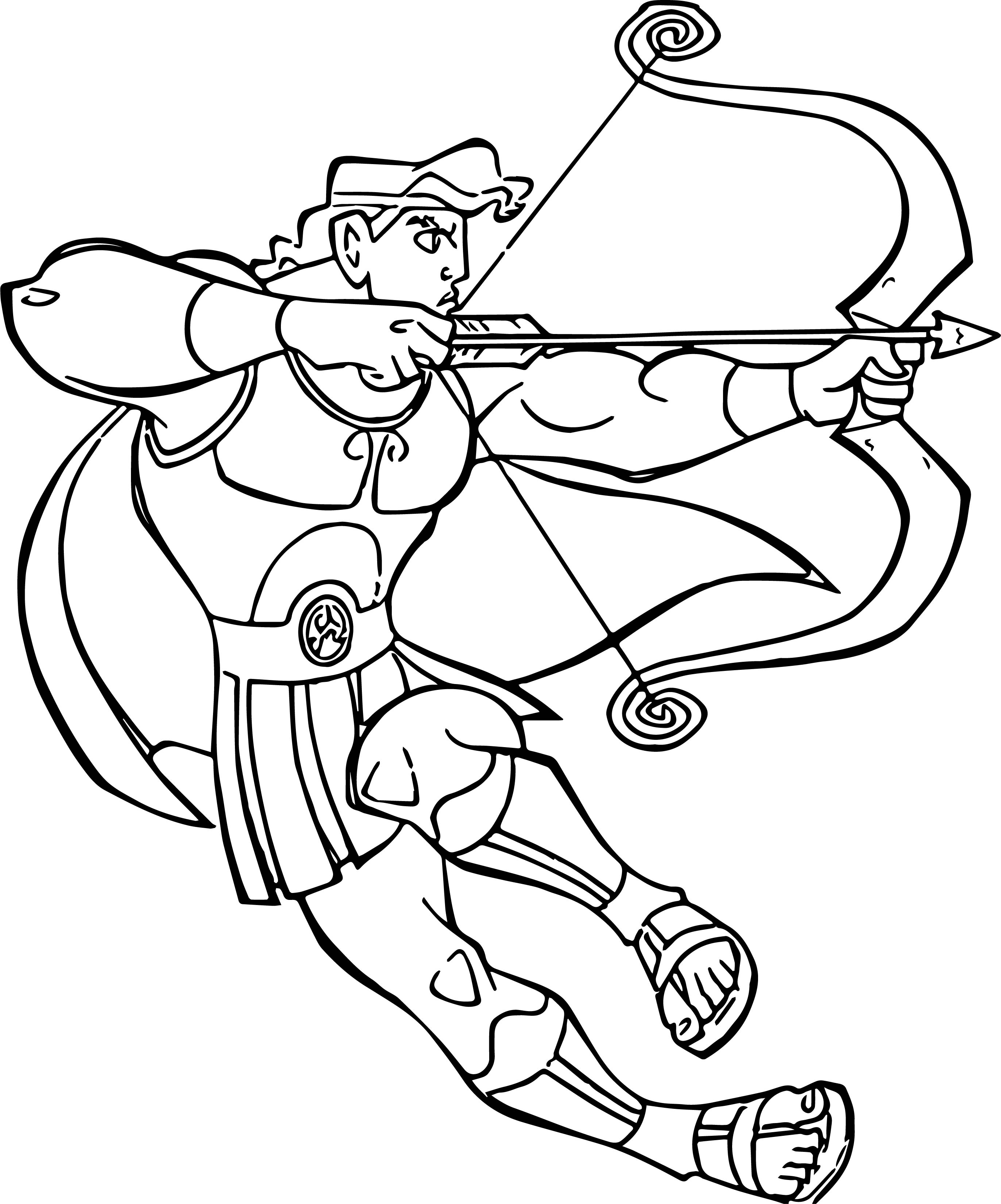 Hercules Arrow Bow Coloring Pages