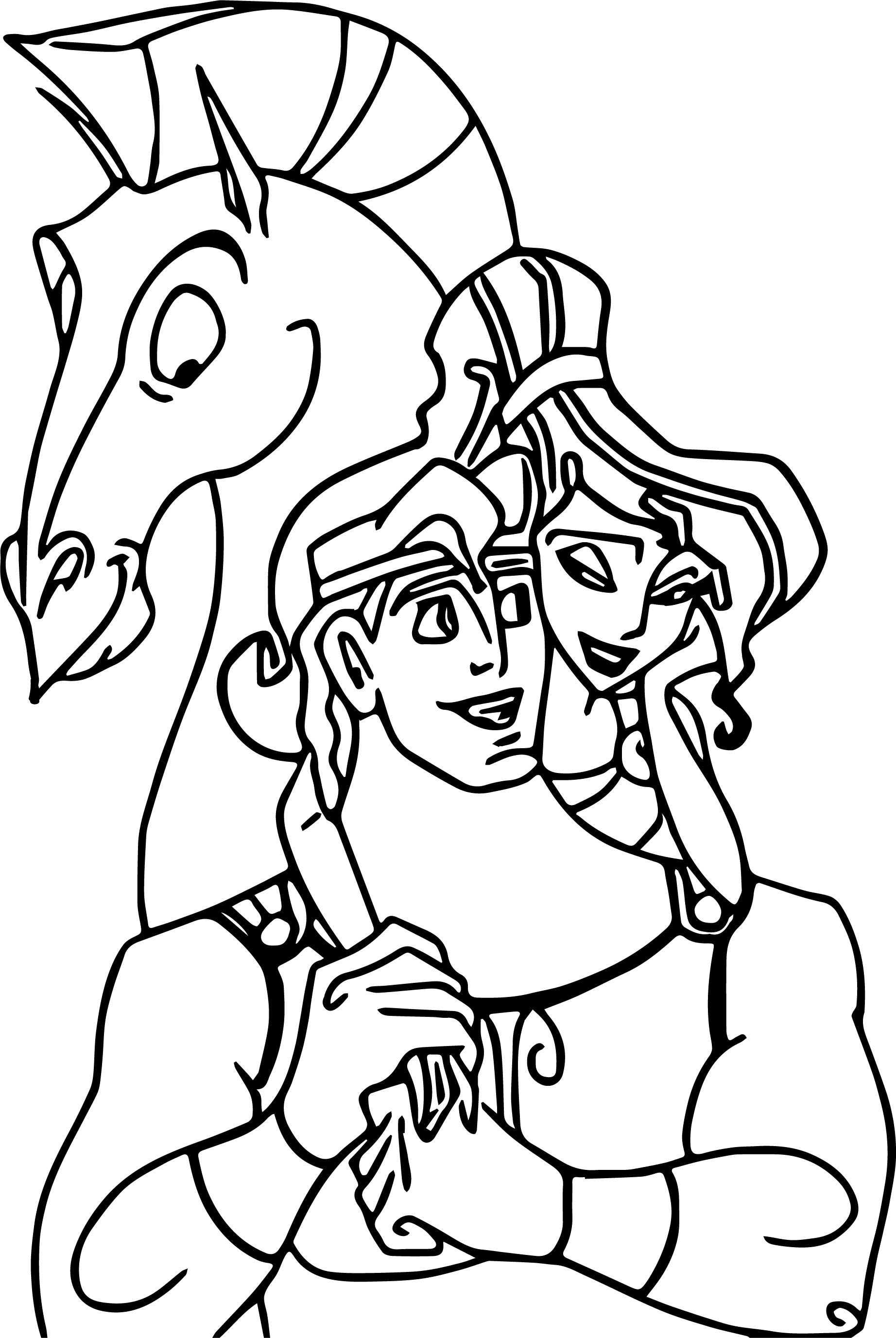 Hercules Love Coloring Pages