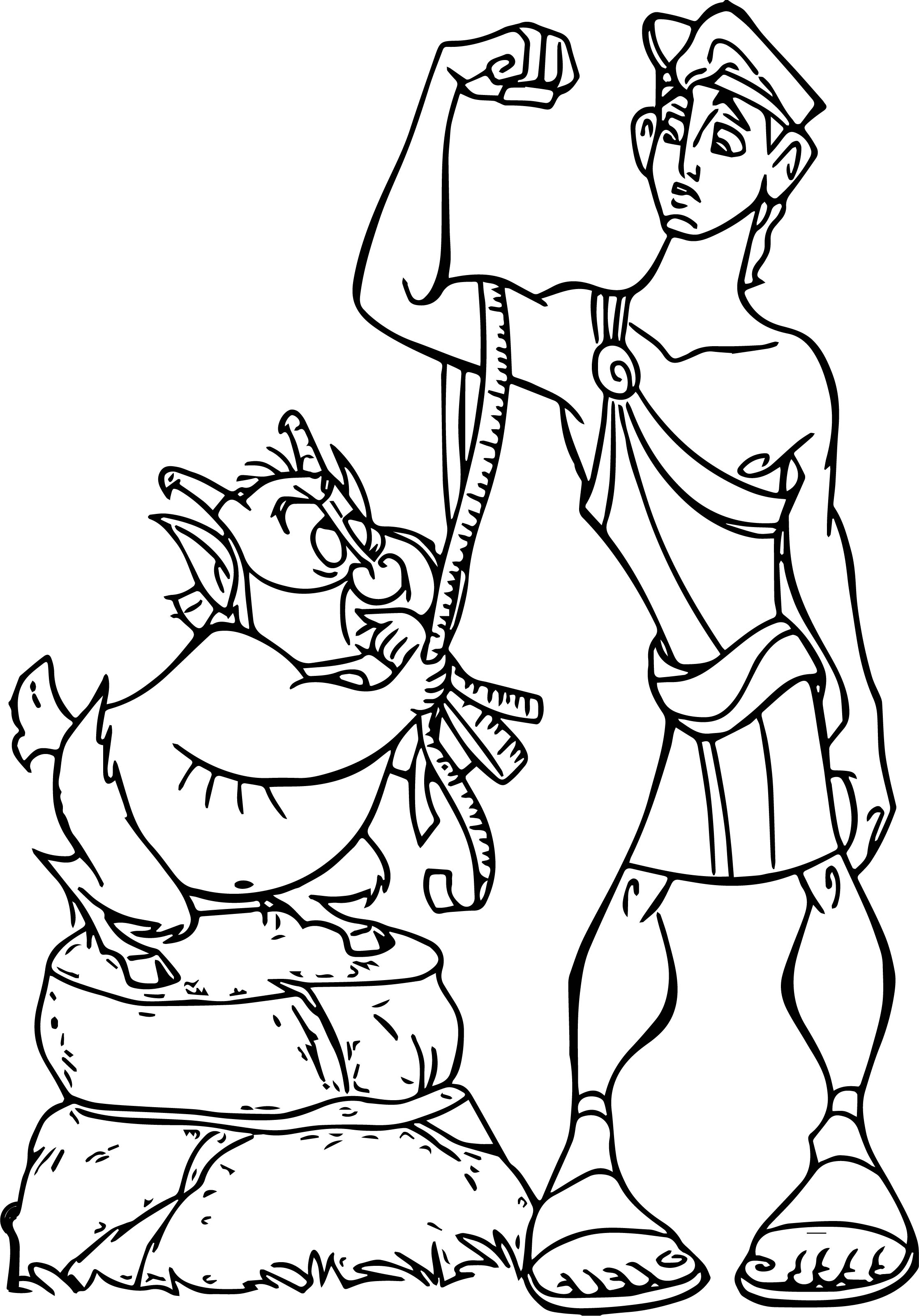 Hercules Mad Coloring Pages