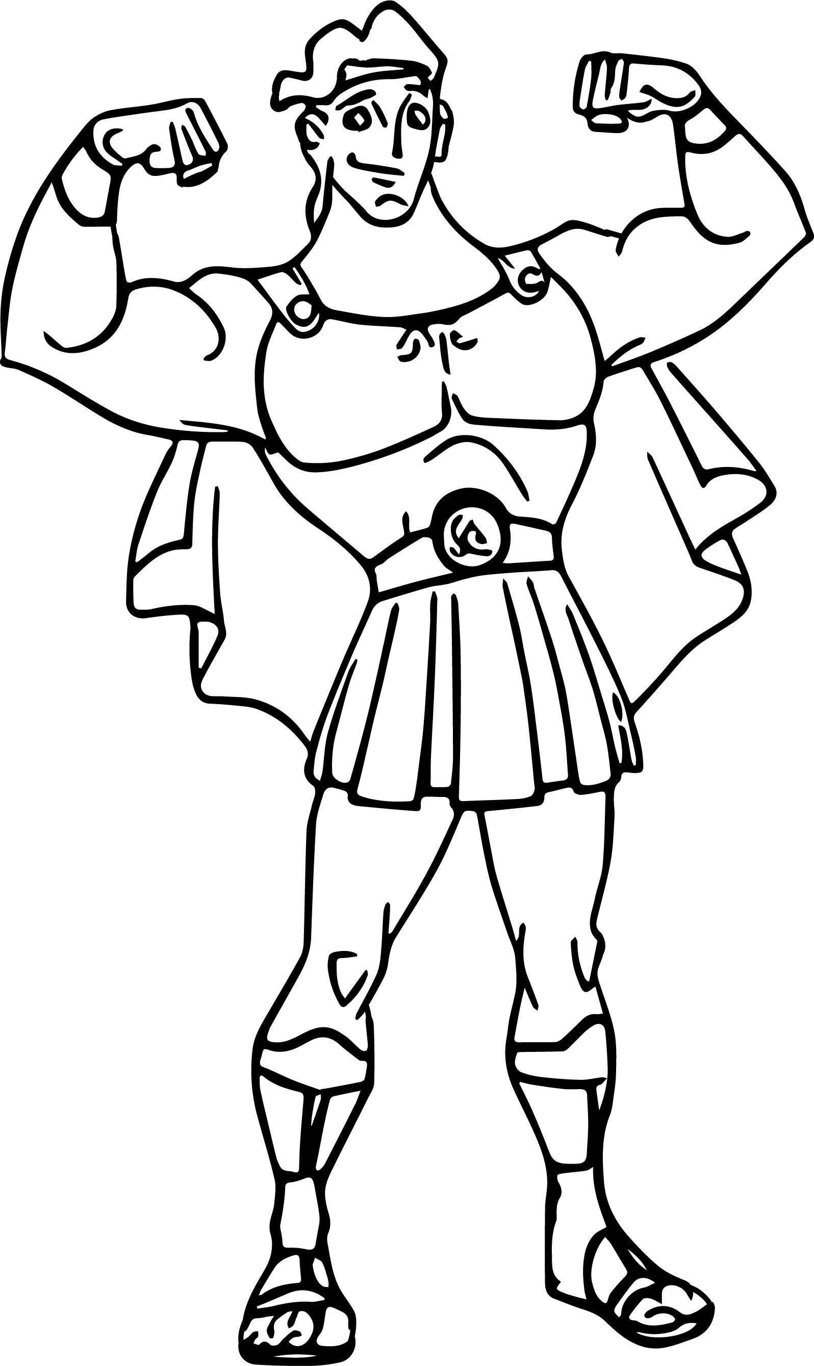 Hercules Muscles Coloring Pages