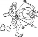 Hercules Pan Bow Coloring Pages