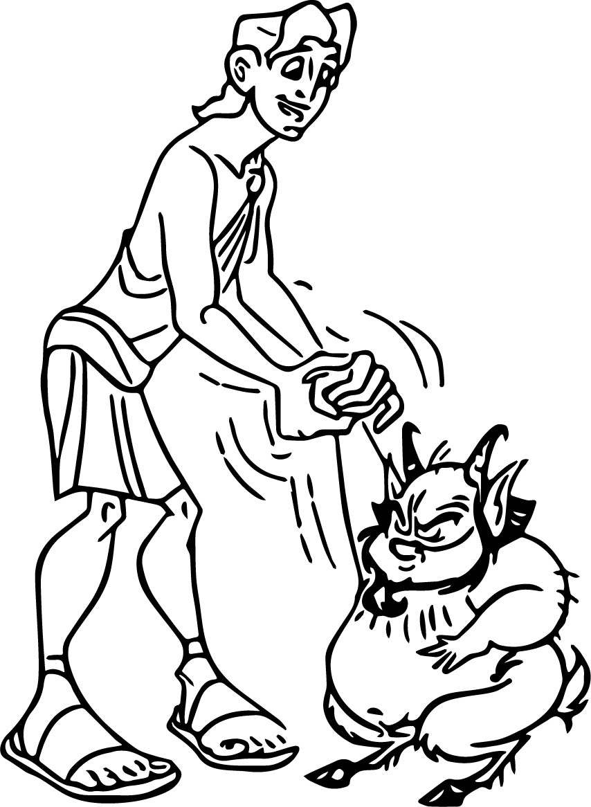 Hercules Phil Coloring Pages