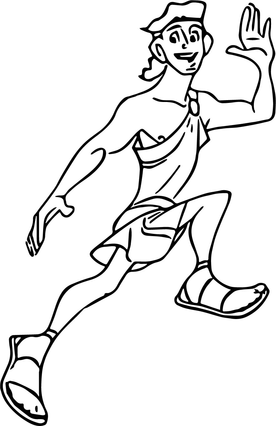 Hercules Run Coloring Pages