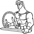 Hercules Shield Coloring Pages