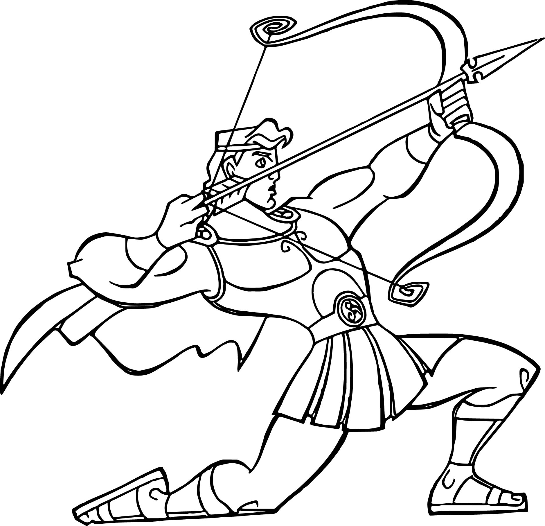 Hercules Ules Aiming Coloring Pages