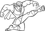 Hercules Ules Kicking Coloring Pages