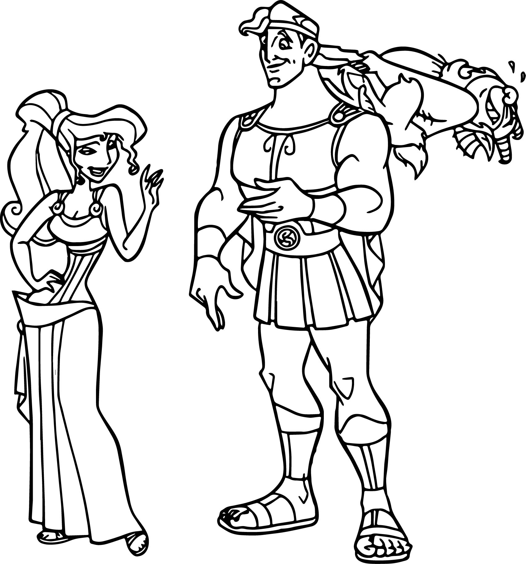 Hercules Ules Meg Phil Coloring Pages
