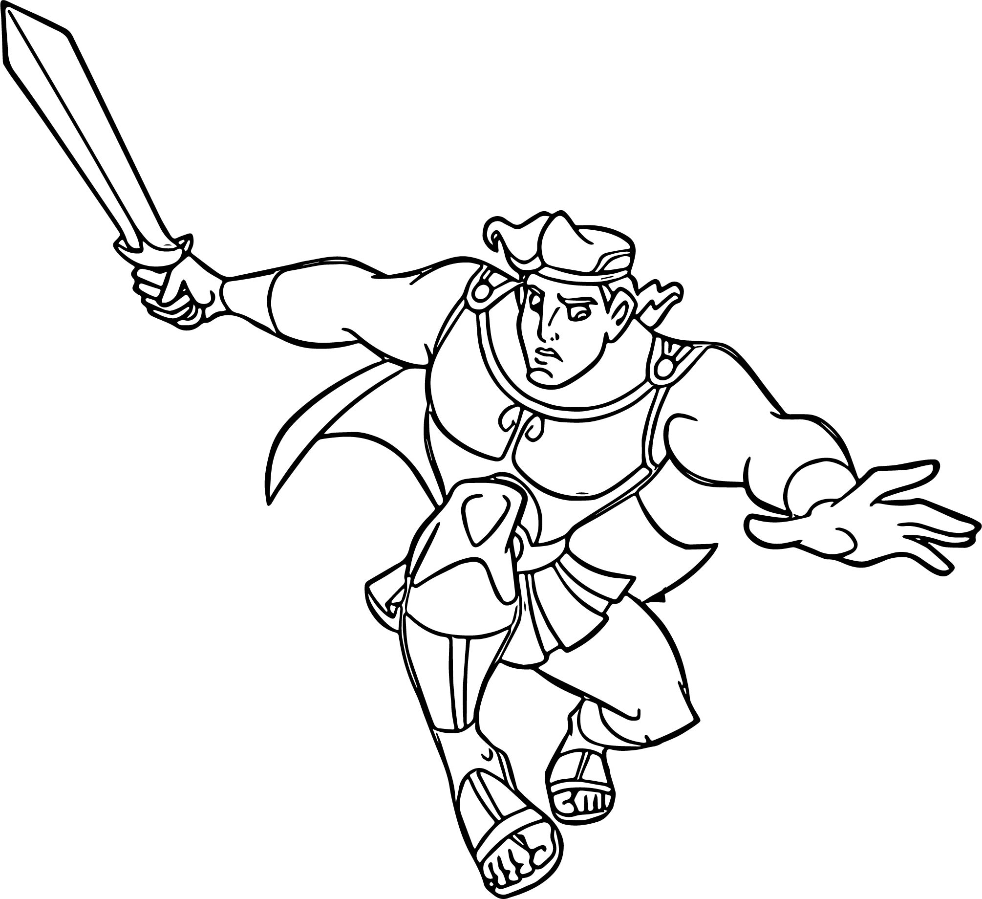Hercules Ules Sword Coloring Pages