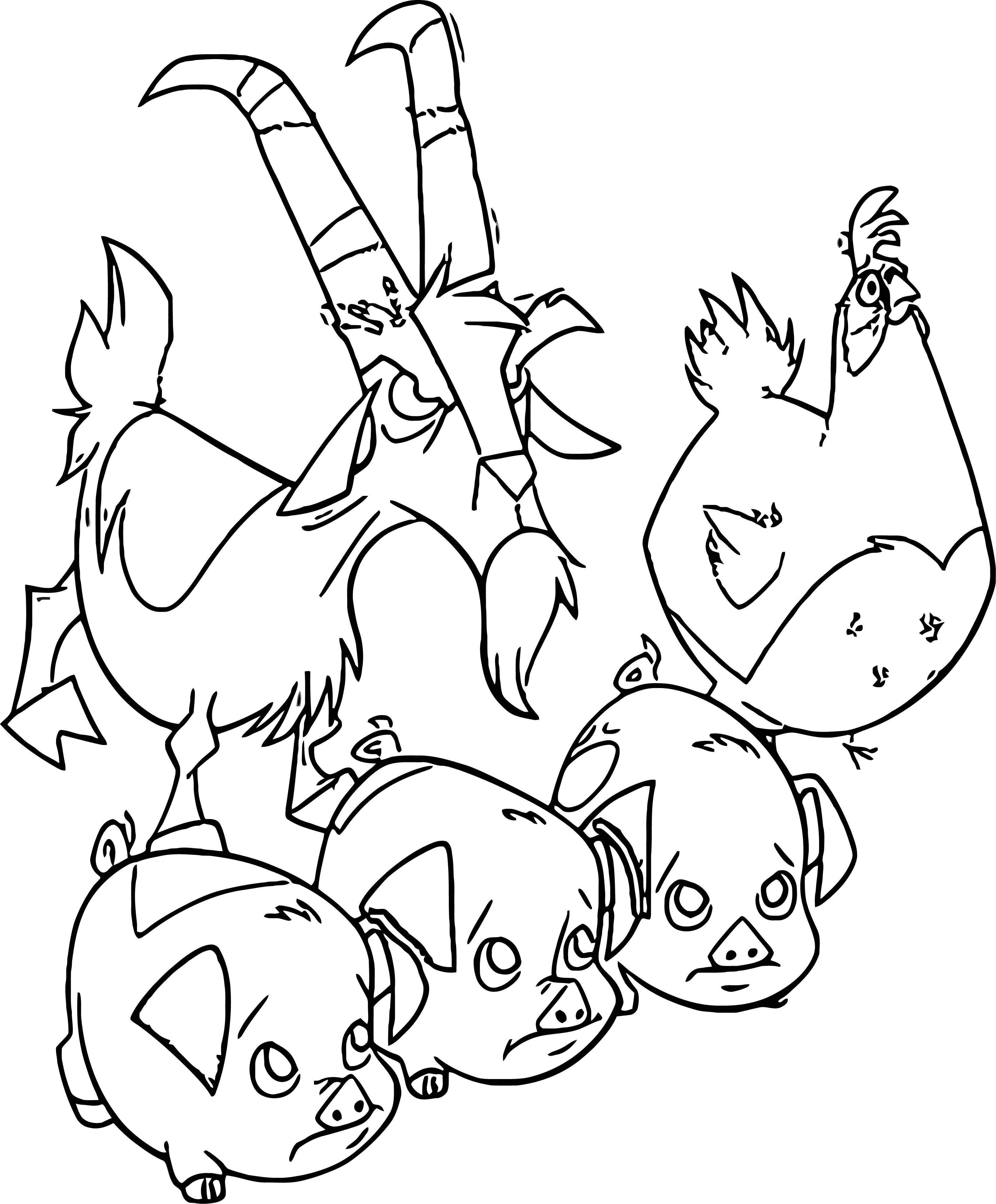 Home On The Range Animals Coloring Page