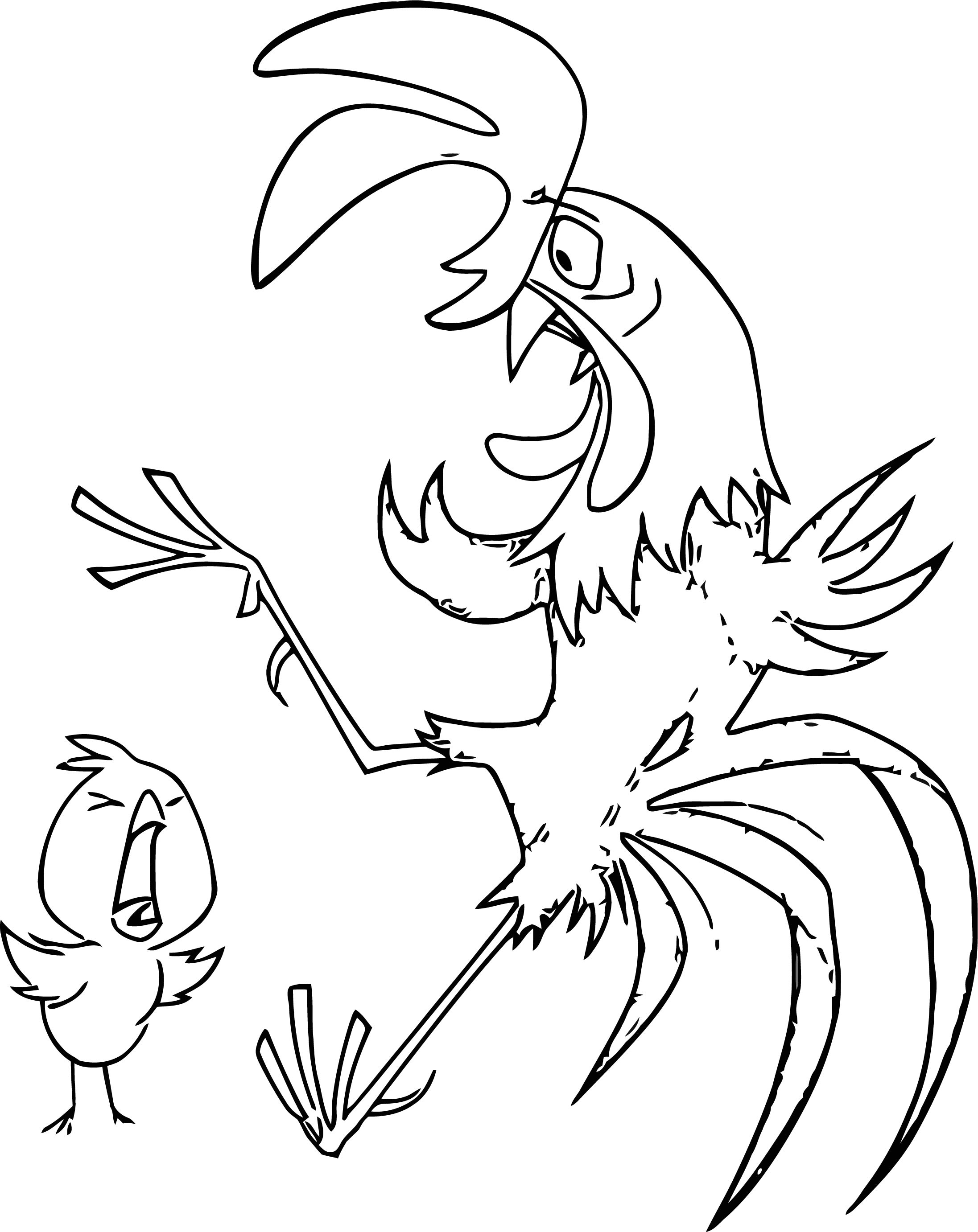 Home On The Range Chick Wake Up Coloring Page