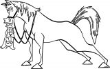 Home On The Range Dog And Horse Coloring Page