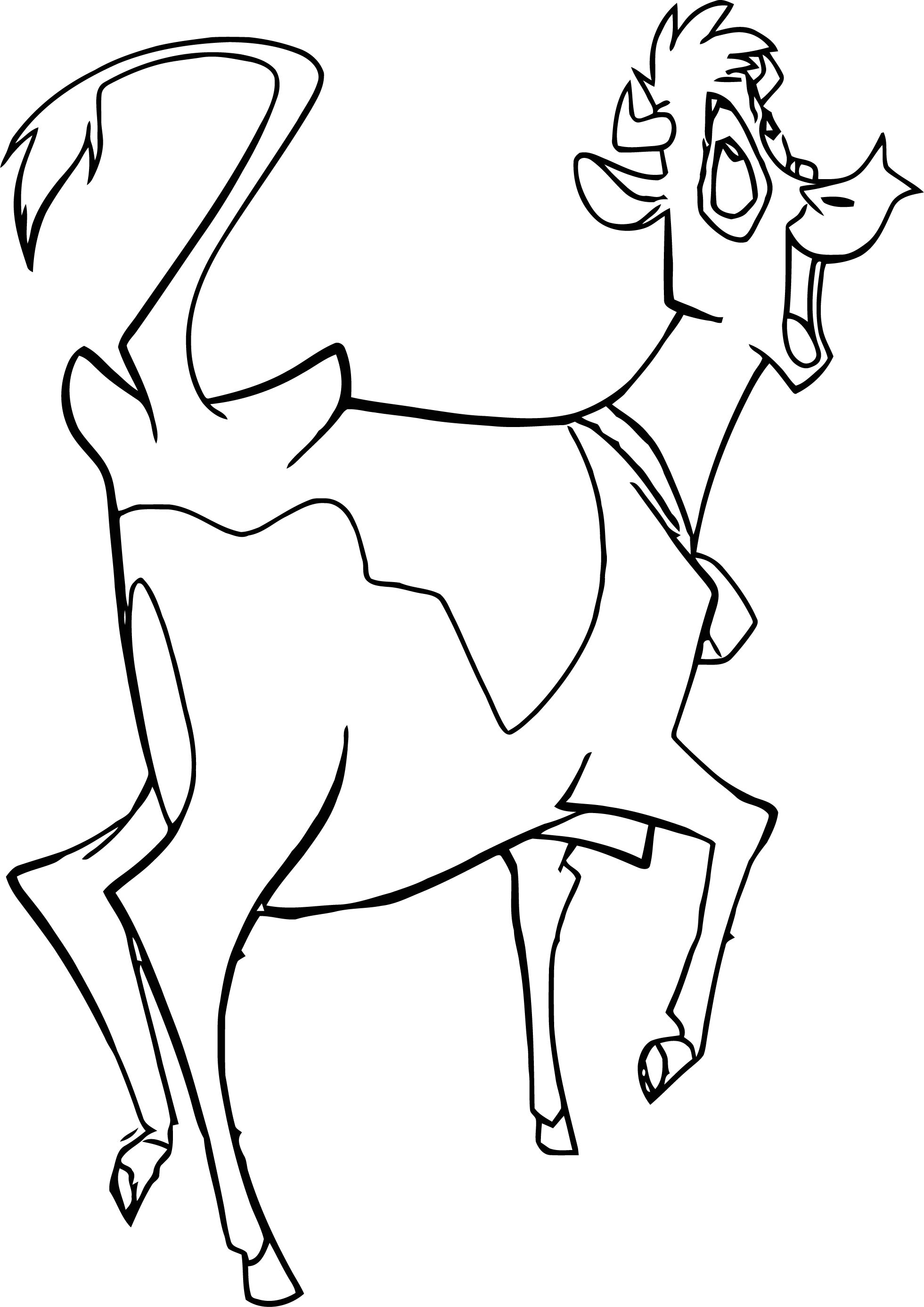 Home On The Range Fun Cow Coloring Page