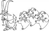 Home On The Range Goat Pig Coloring Page