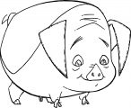 Home On The Range Pig Look Down Coloring Page