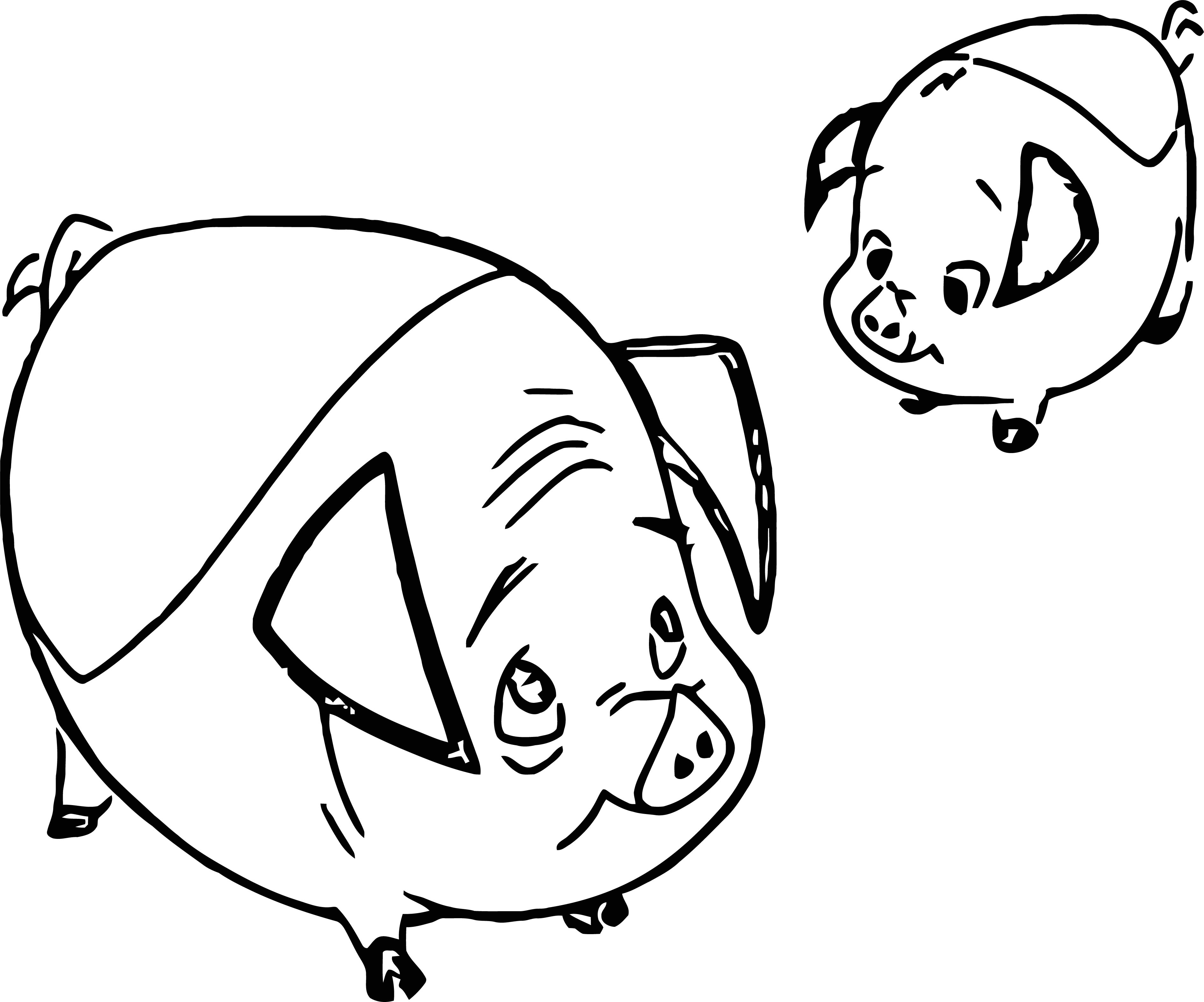 Home on the range piggies coloring page wecoloringpage com