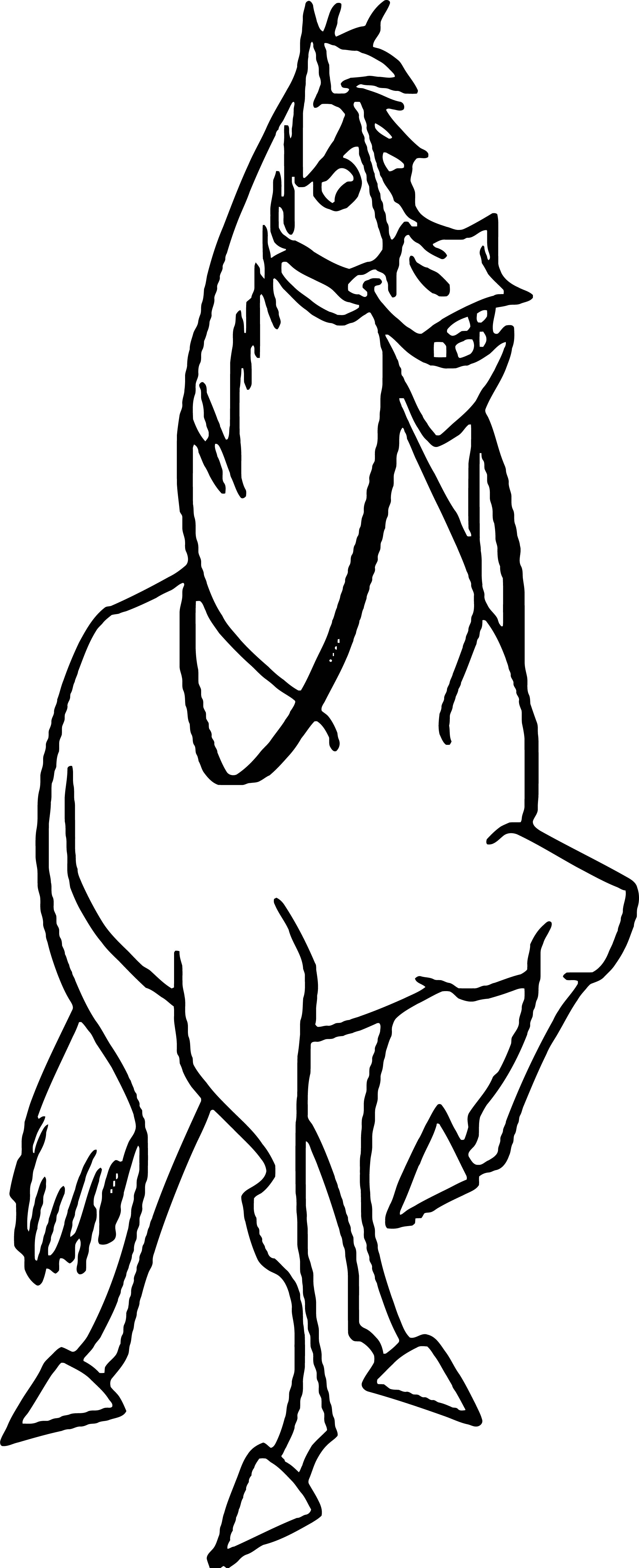 Home On The Range Smile Horse Coloring Page