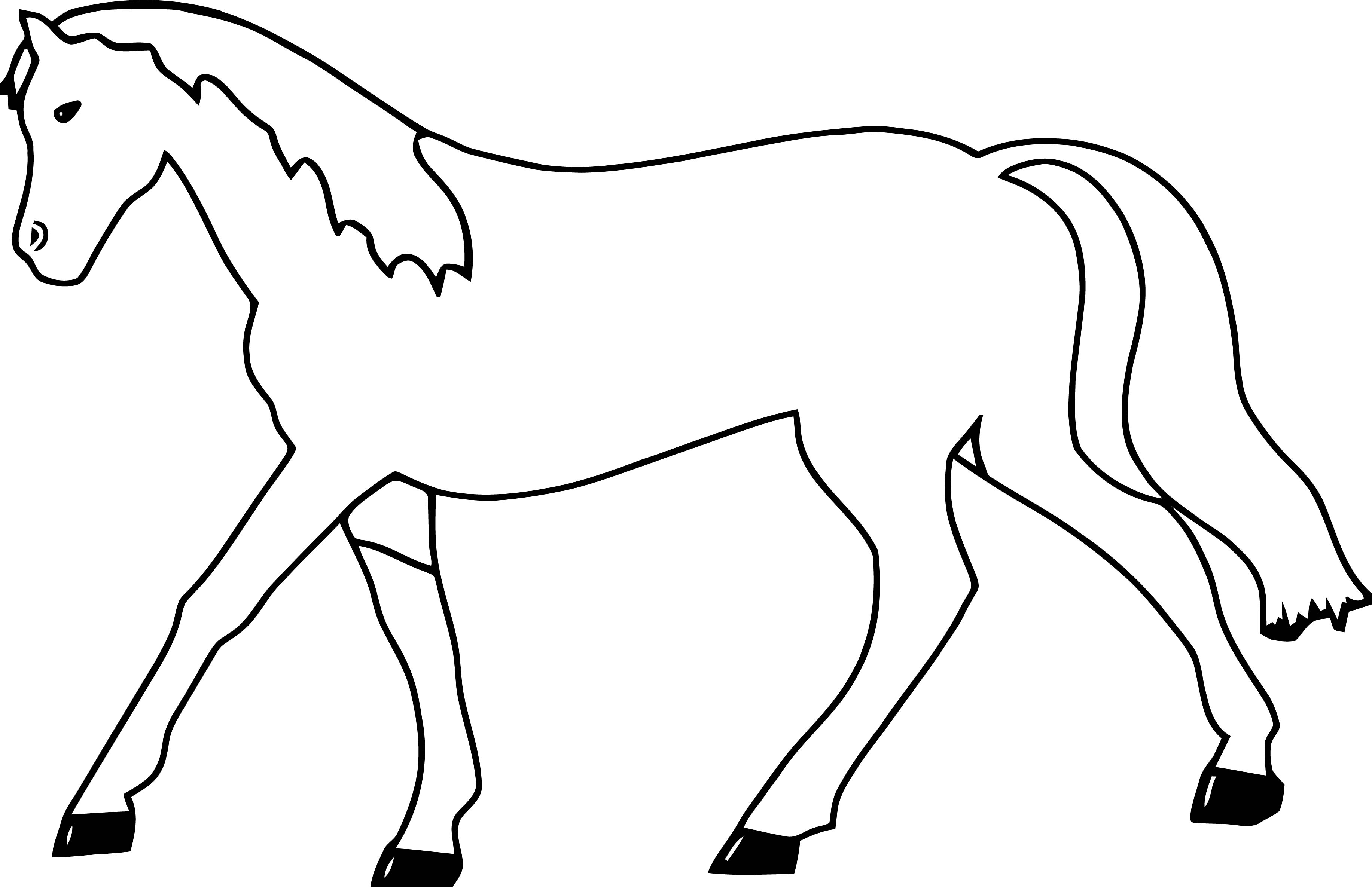 Horse Coloring Page Wecoloringpage 011
