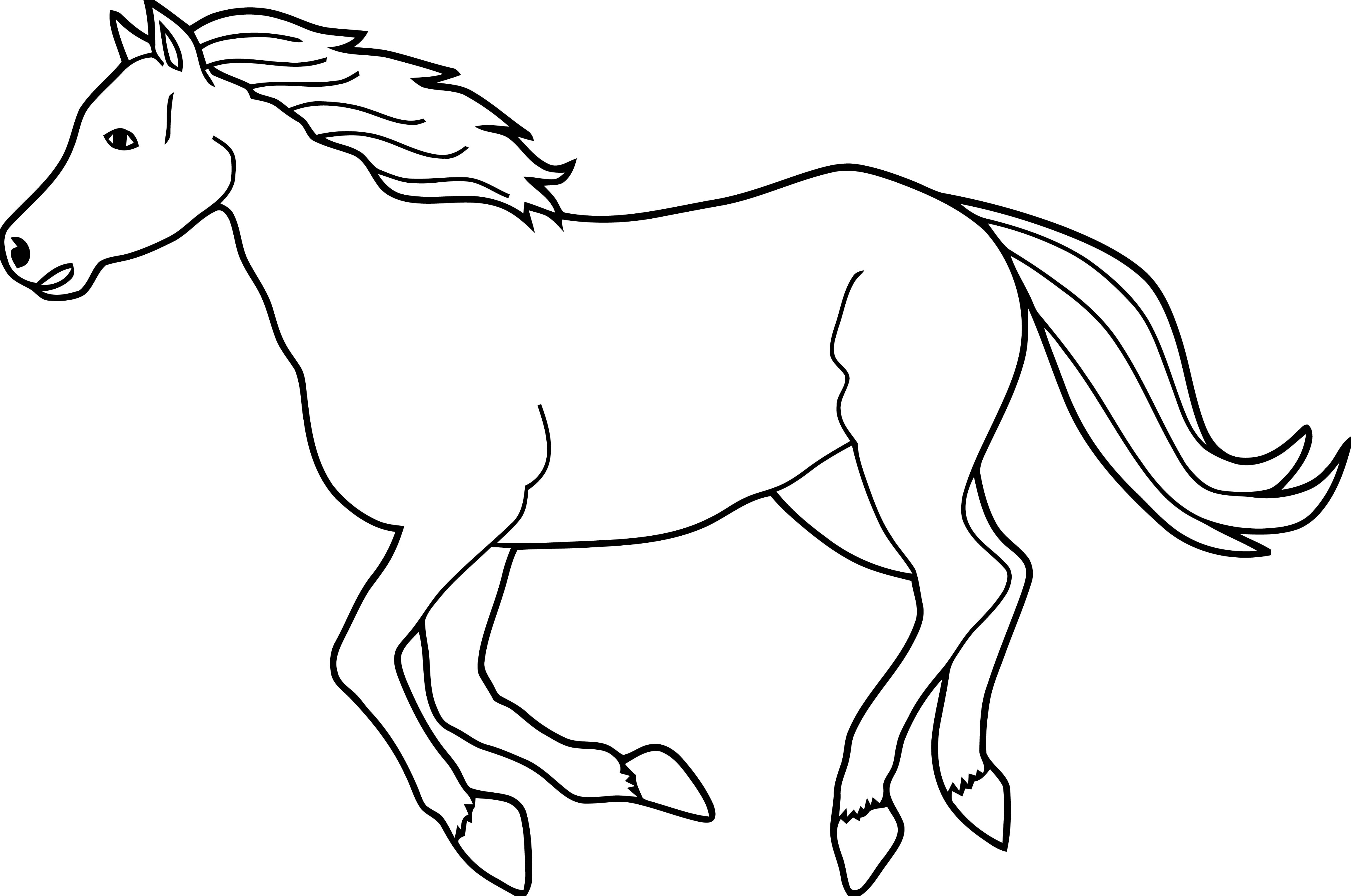Horse Coloring Page Wecoloringpage 020