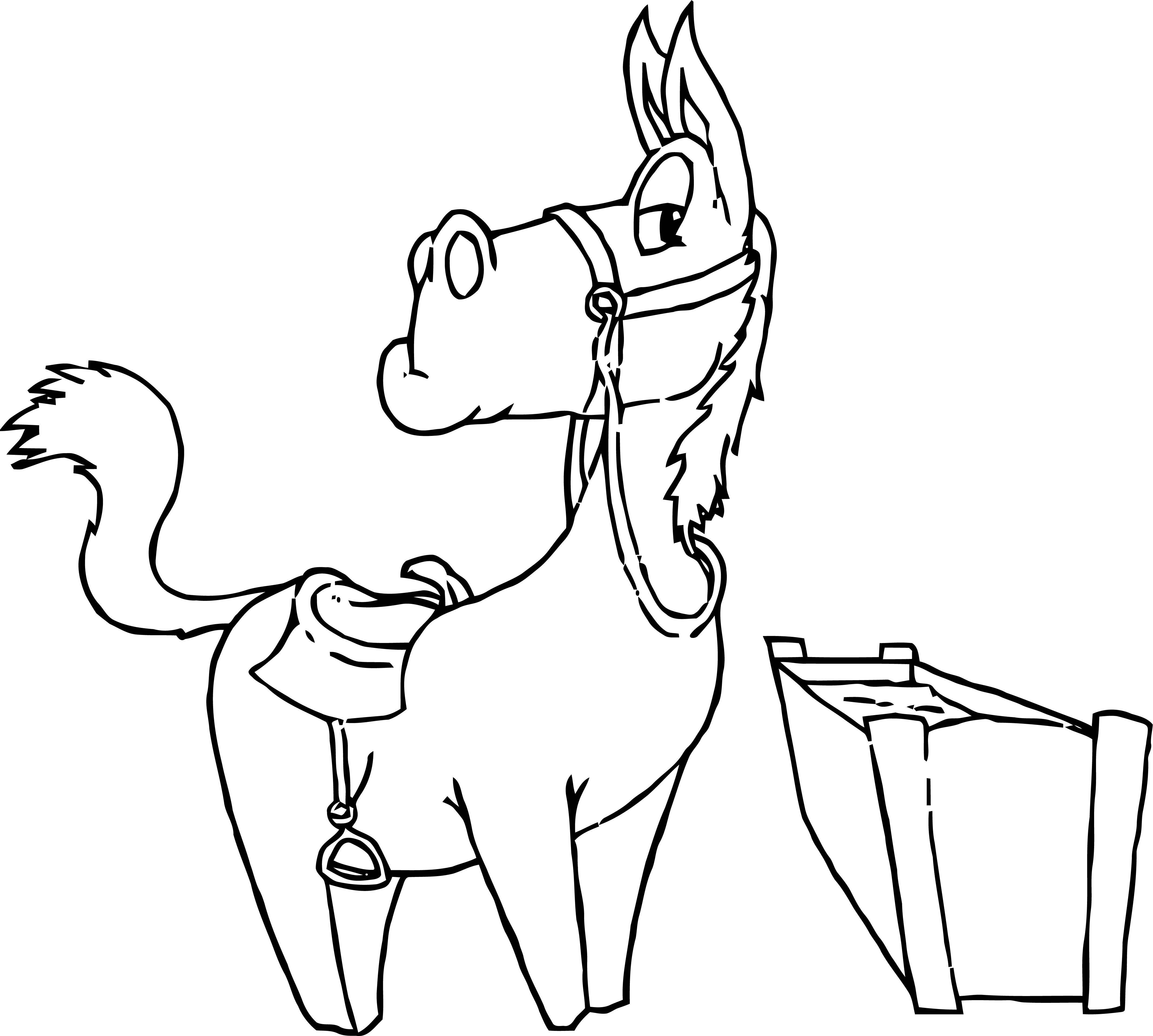 Horse Coloring Page Wecoloringpage 036