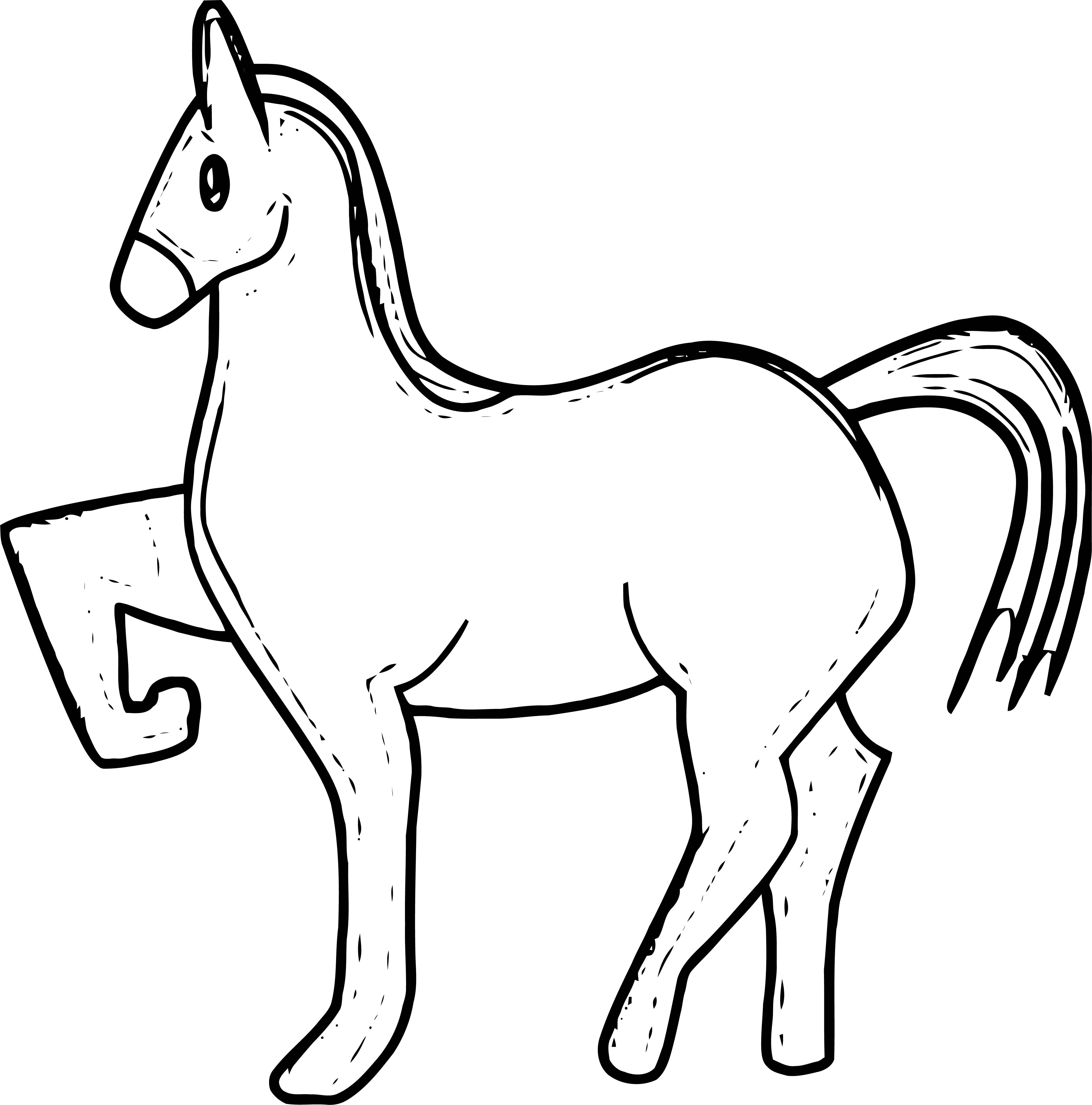 Horse Coloring Page Wecoloringpage 060
