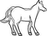 Horse Coloring Page Wecoloringpage 062