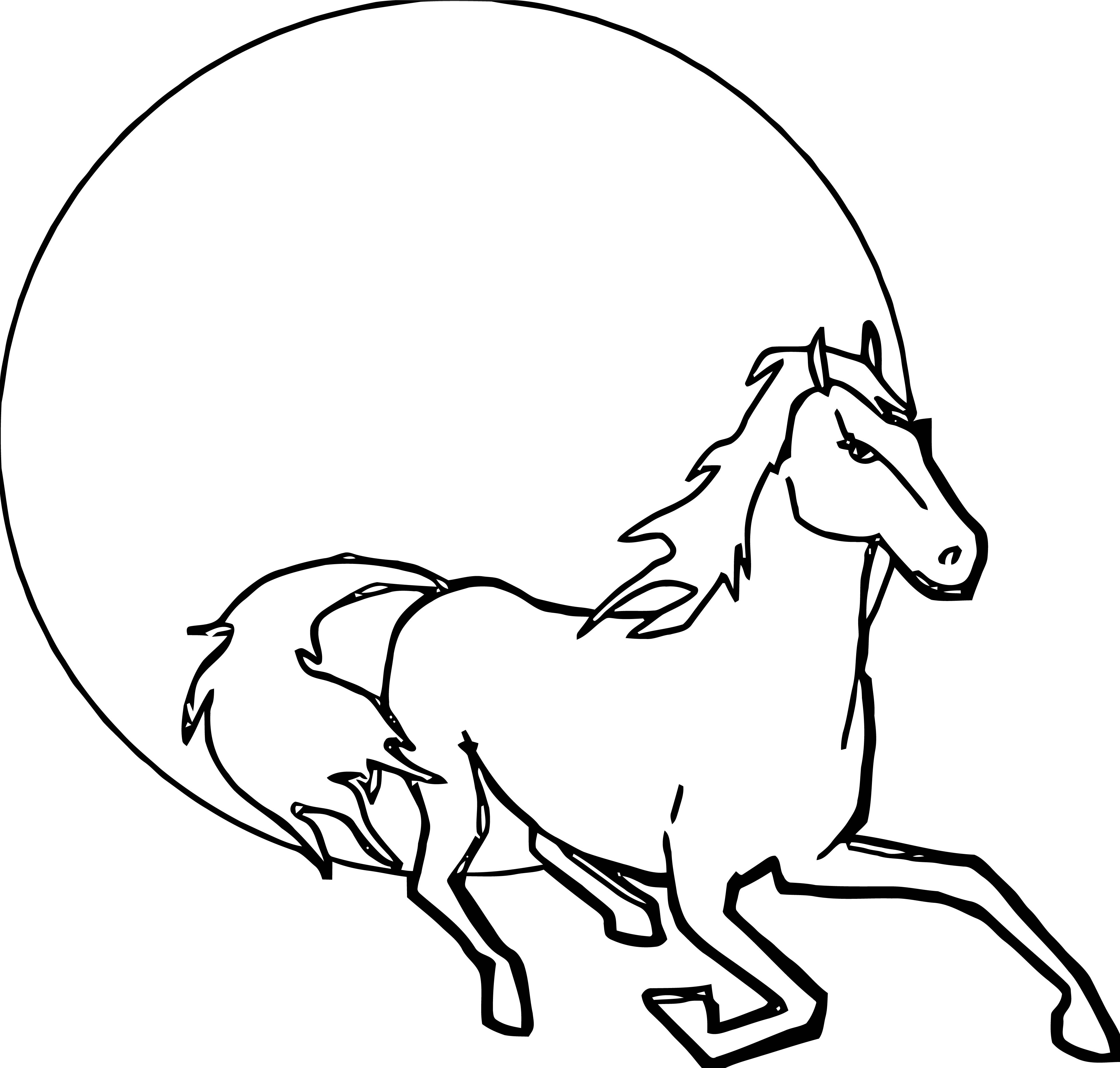 Horse Coloring Page Wecoloringpage 073