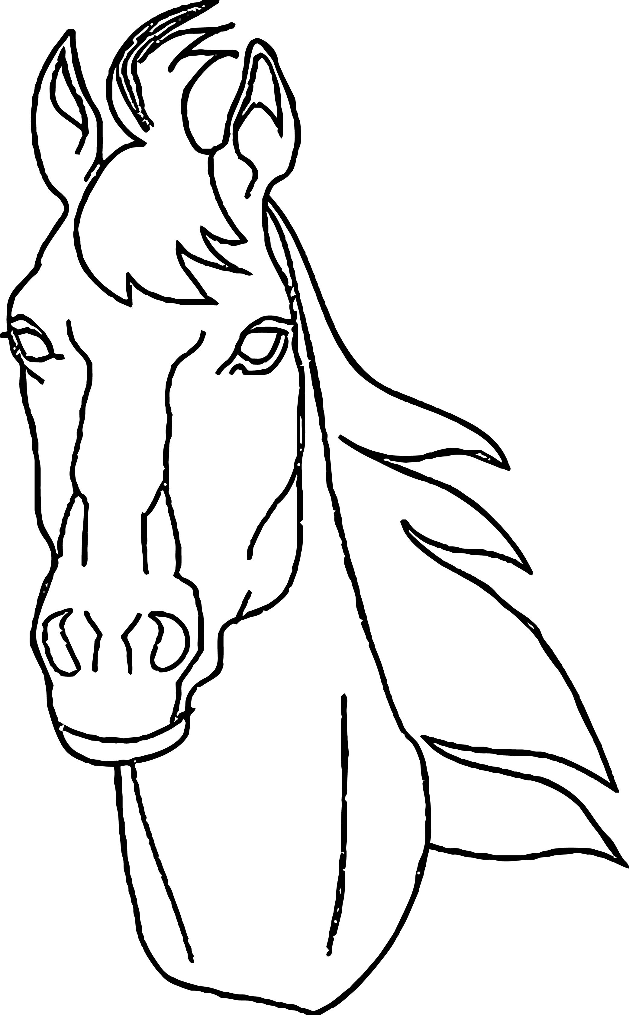 Horse Coloring Page Wecoloringpage 075