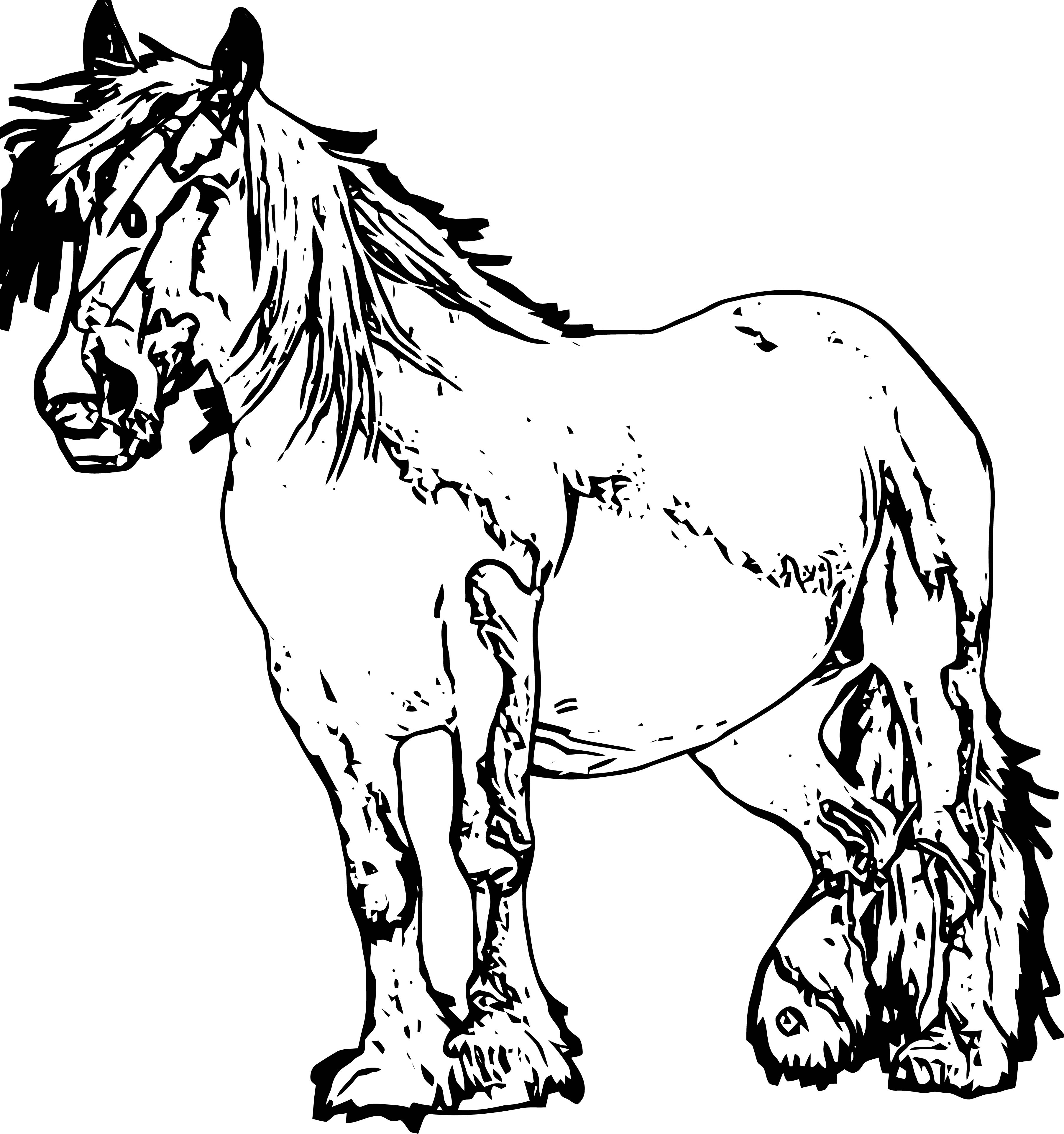 Horse Coloring Page Wecoloringpage 129