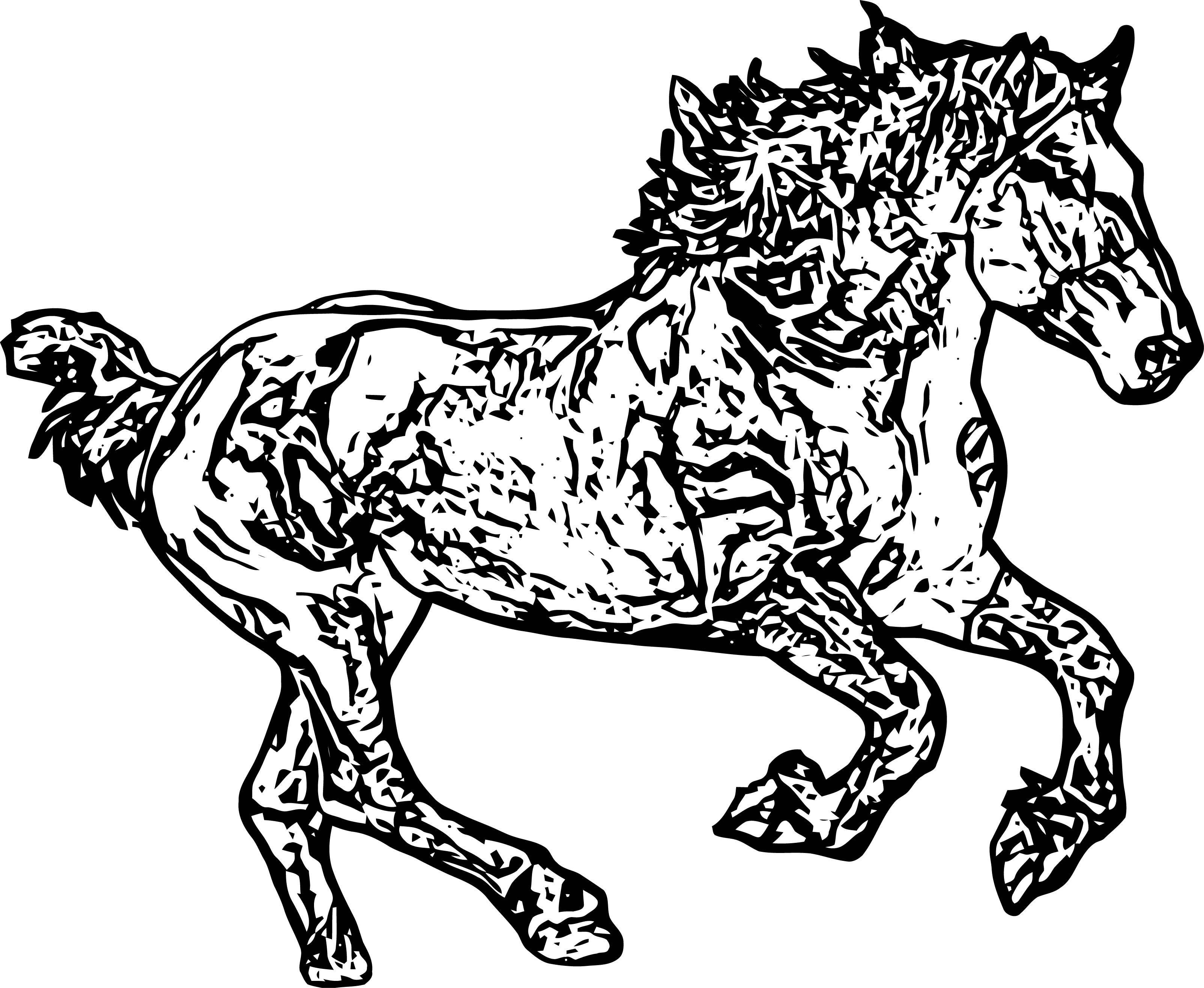 Horse Coloring Page Wecoloringpage 163