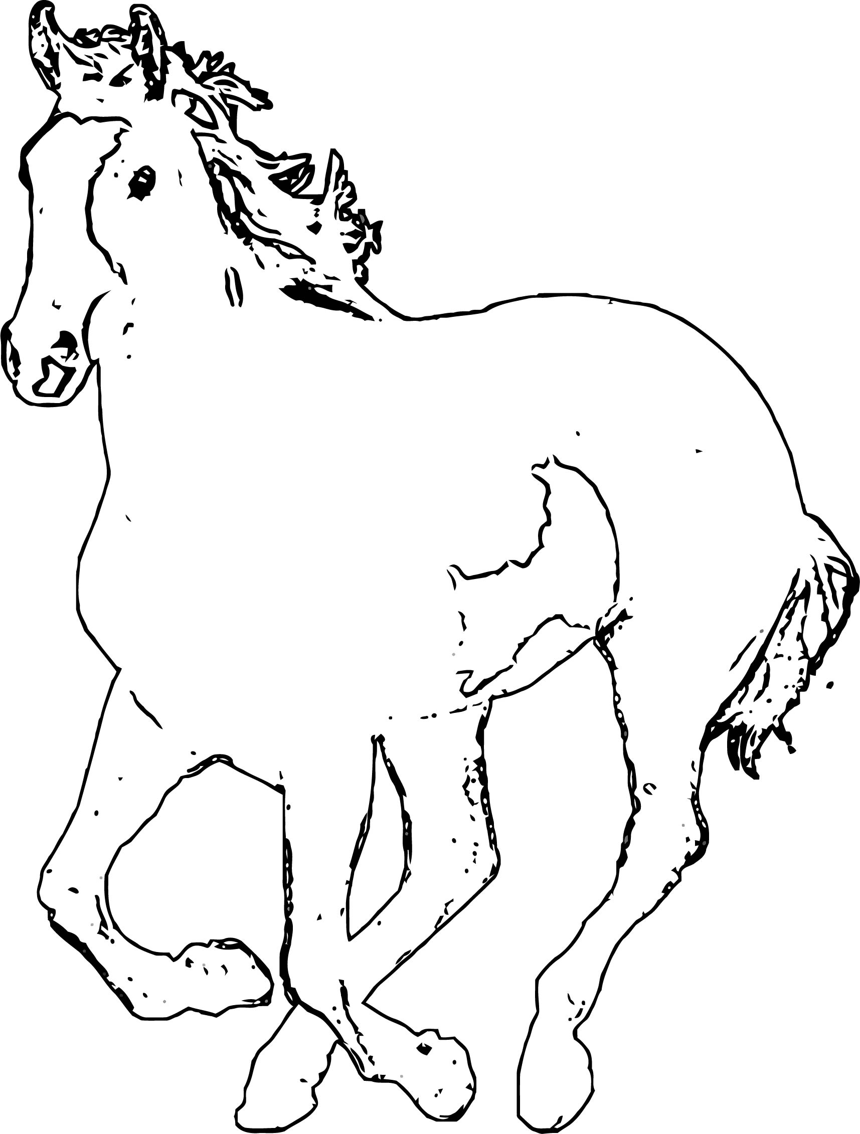 Horse Coloring Page Wecoloringpage 190