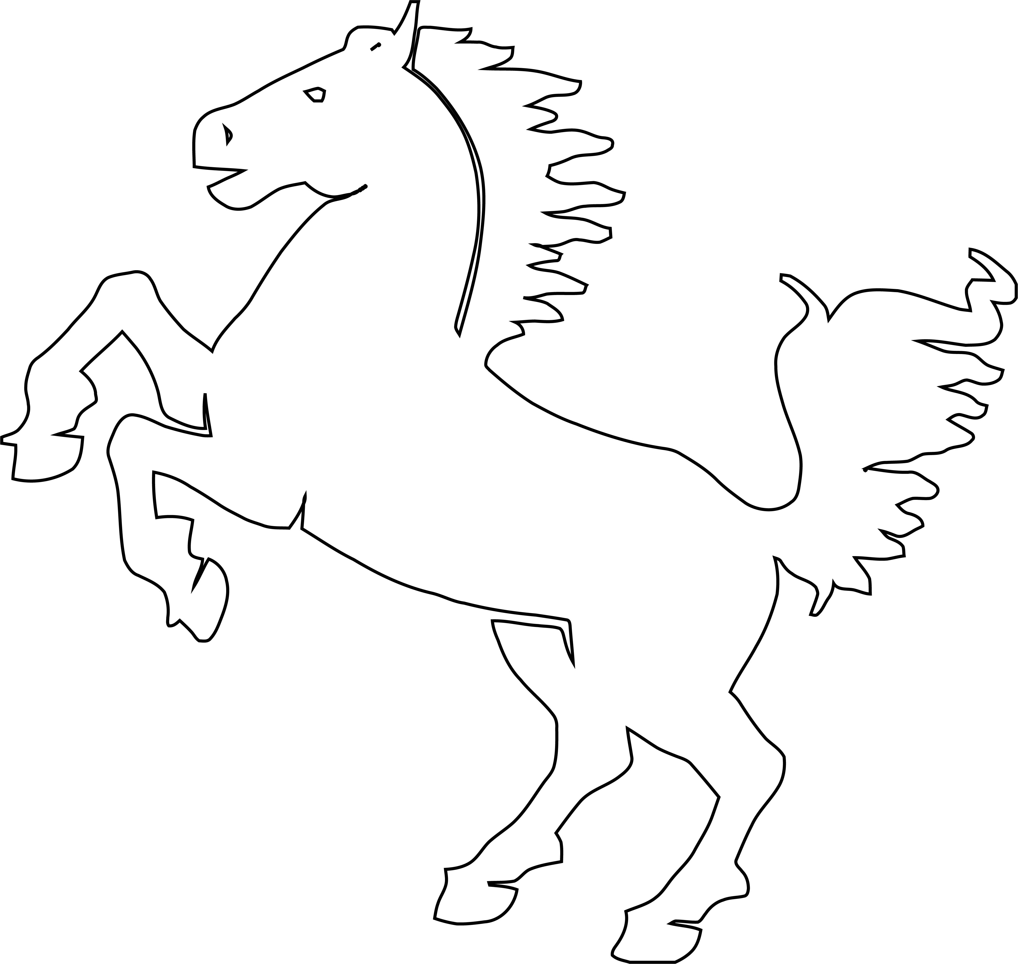 Horse Coloring Page Wecoloringpage 214