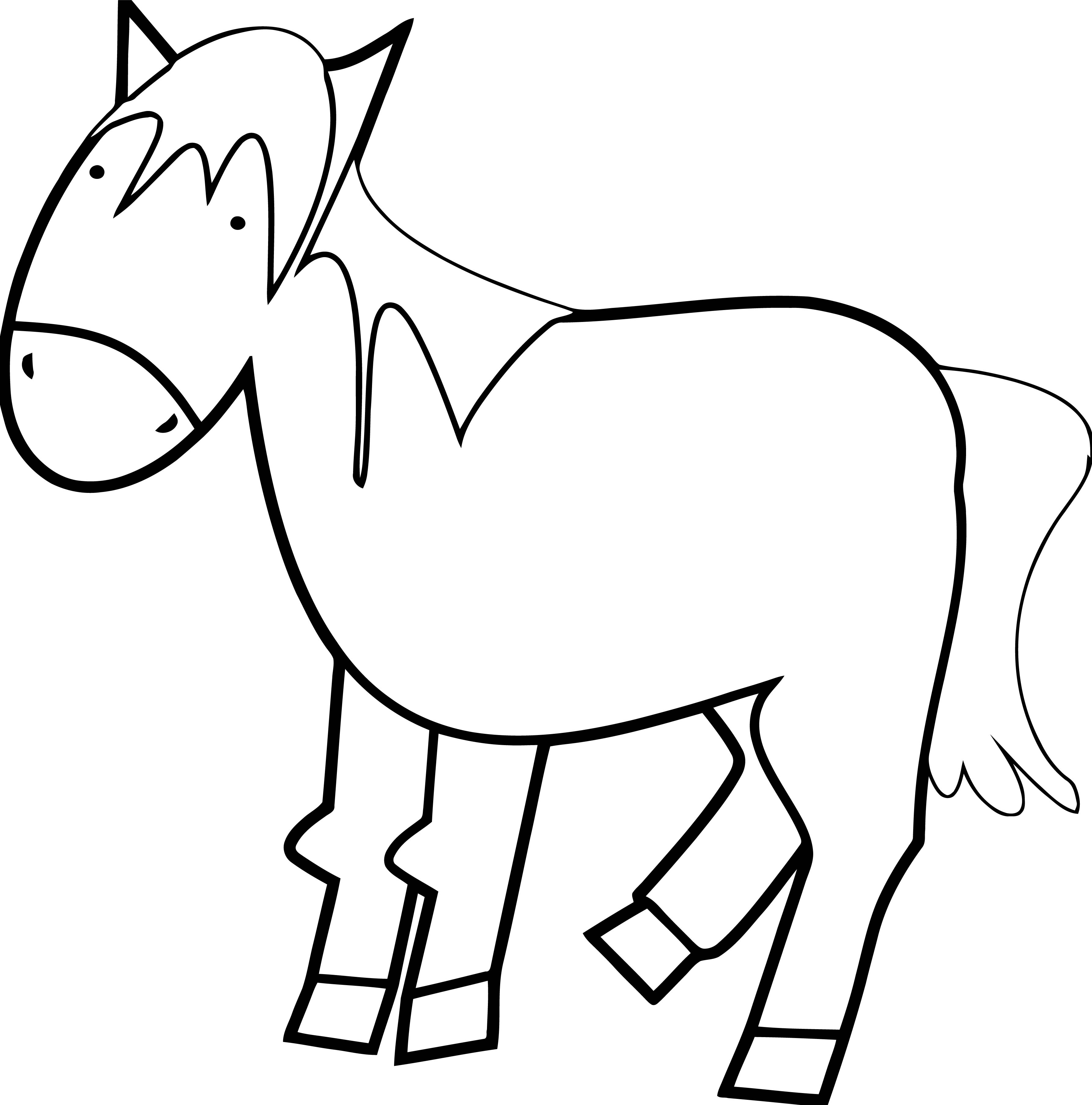 Horse Coloring Page Wecoloringpage 233