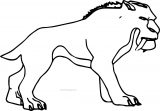 Ice Age Diego Coloring Page