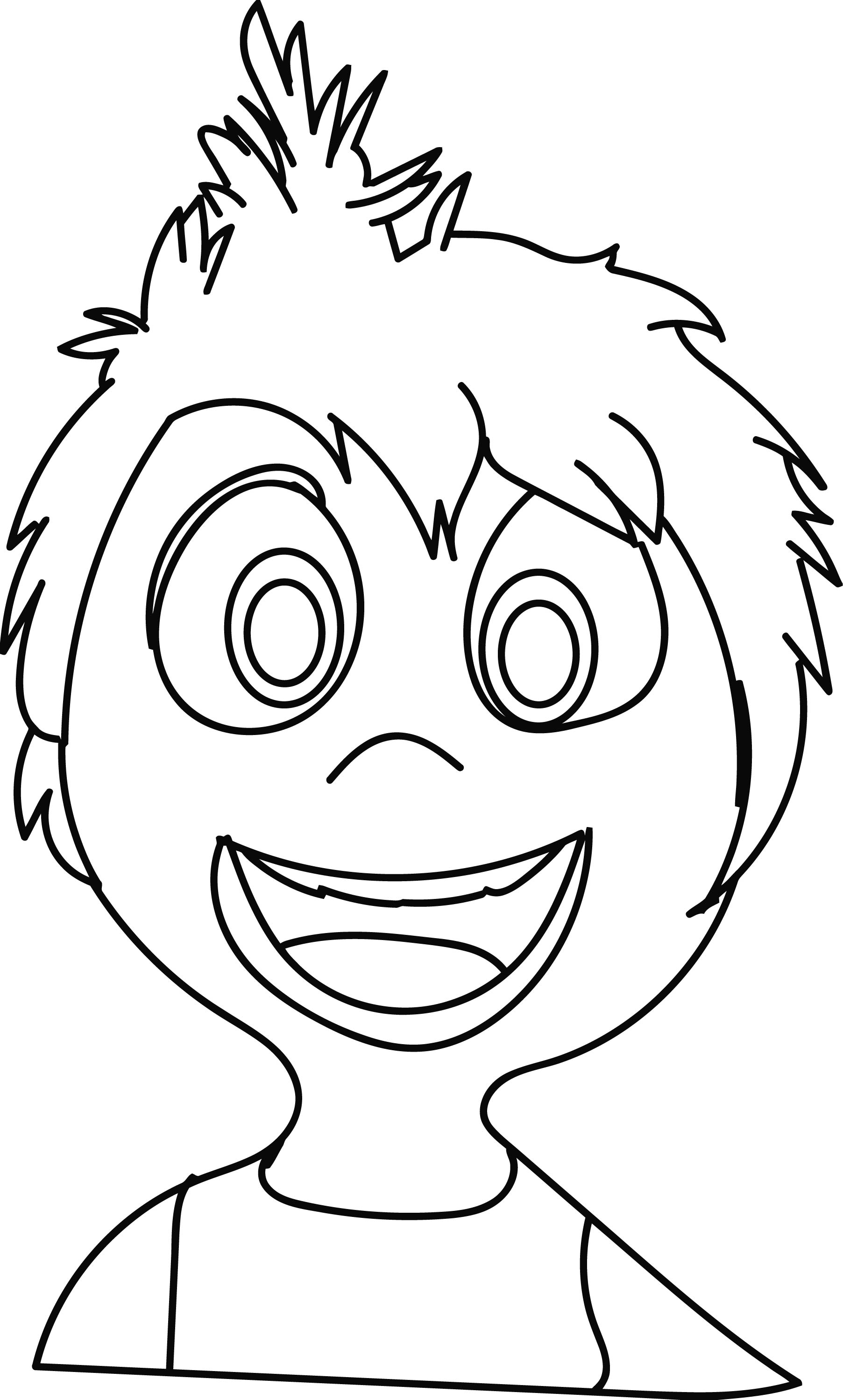 Inside Out Character Joy Face Coloring Page