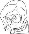Inside Out Character Sadness Face Coloring Page