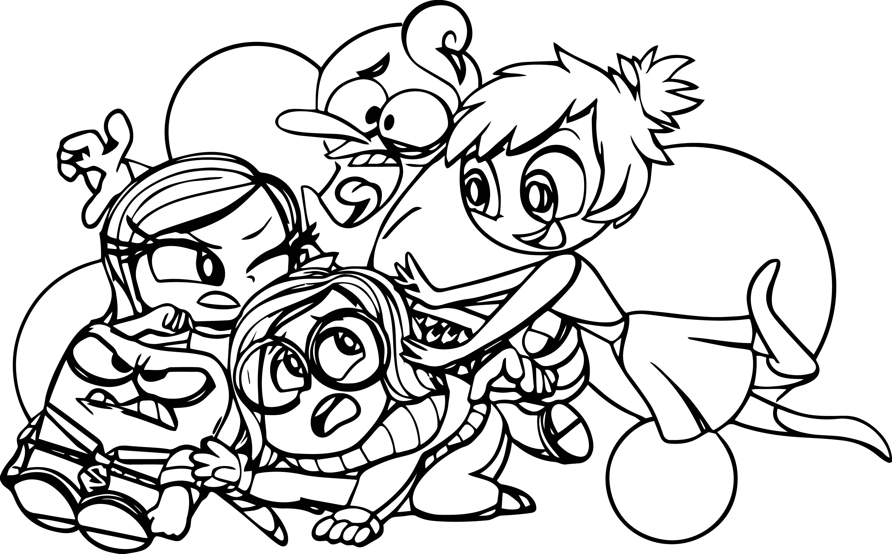 Inside Out Coloring Page Family