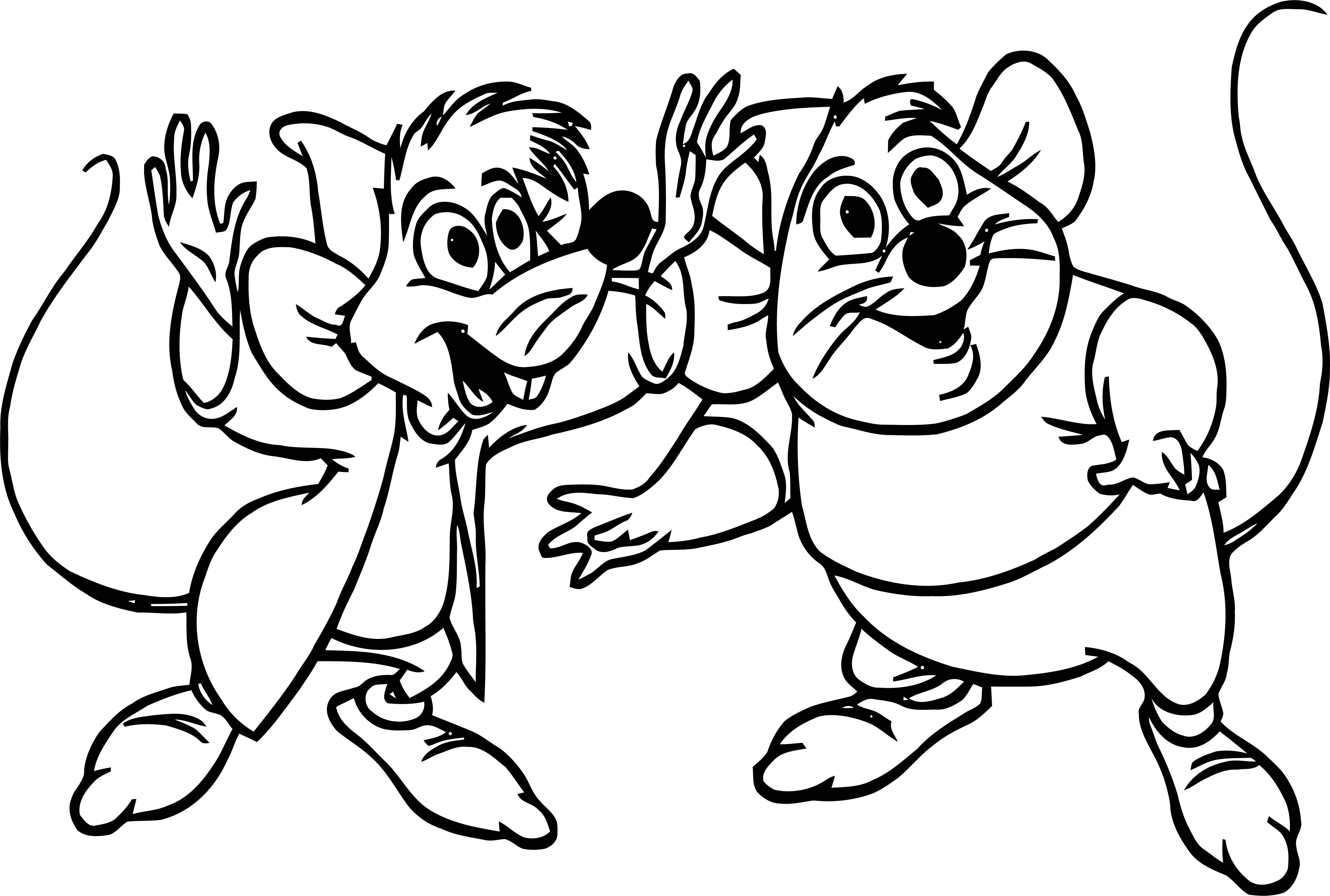 Jaq And Gus Hope Coloring Pages