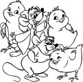 Jaq Gus Chicken Coloring Pages